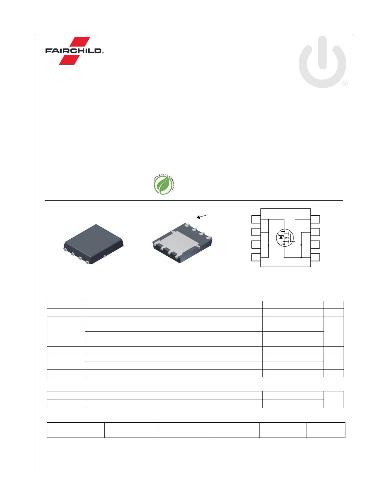 FDMS8570S 데이터시트 및 FDMS8570S PDF