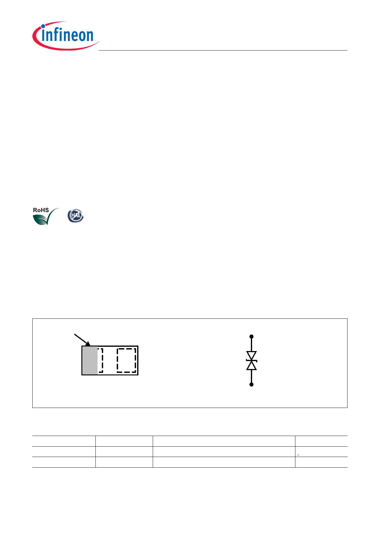 ESD205-B1 pdf, ピン配列
