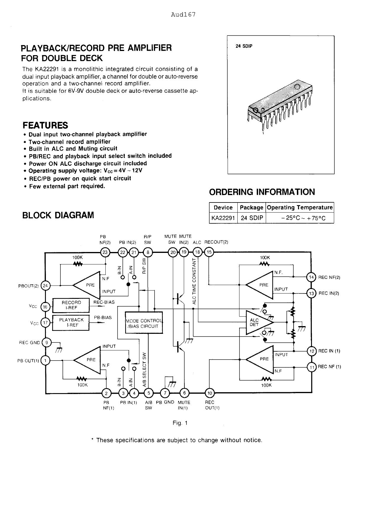 KA22291 دیتاشیت PDF