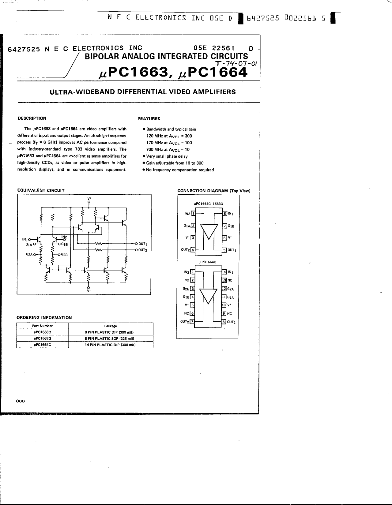 UPC1664 دیتاشیت PDF
