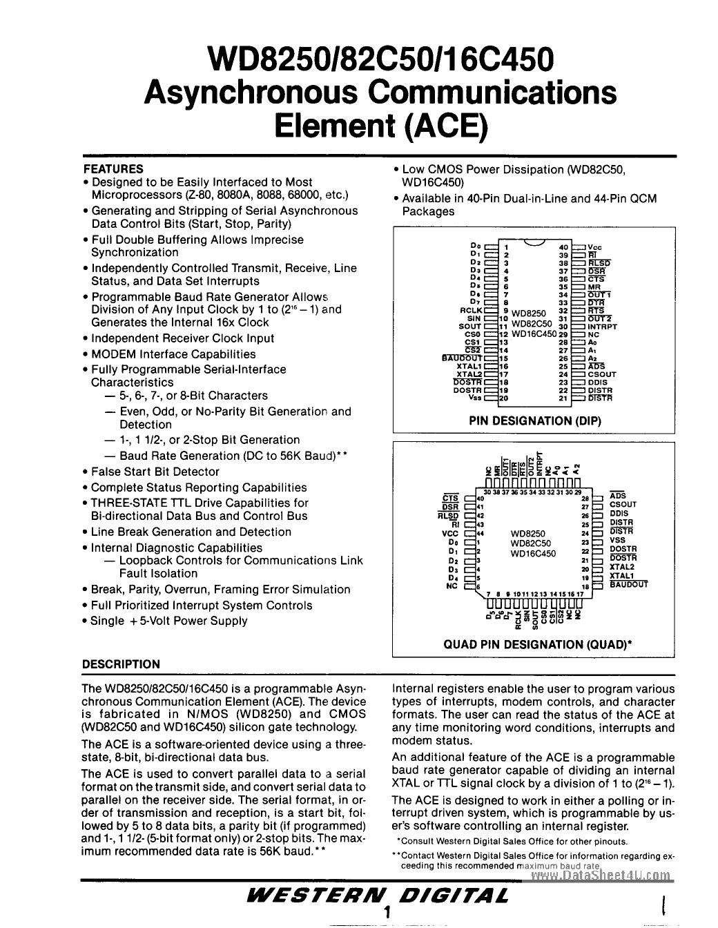 WD16C450 datasheet