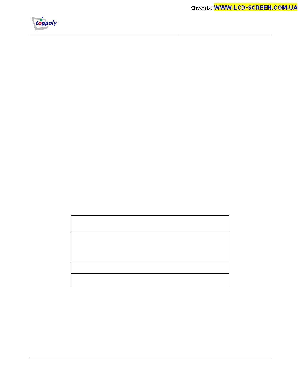 TD170WGCB3 دیتاشیت PDF