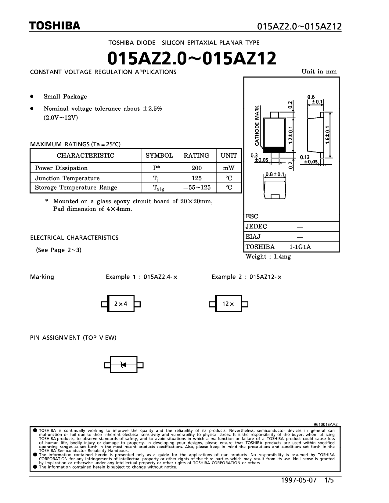 015A3.9 datasheet