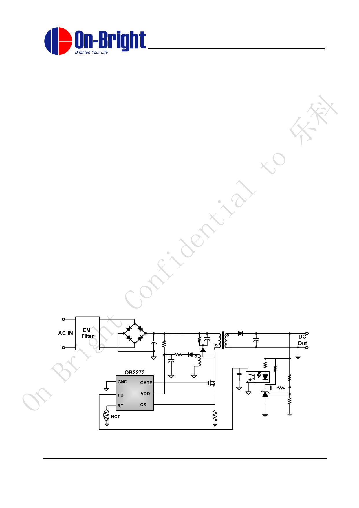 OB2273 Datasheet, OB2273 PDF,ピン配置, 機能