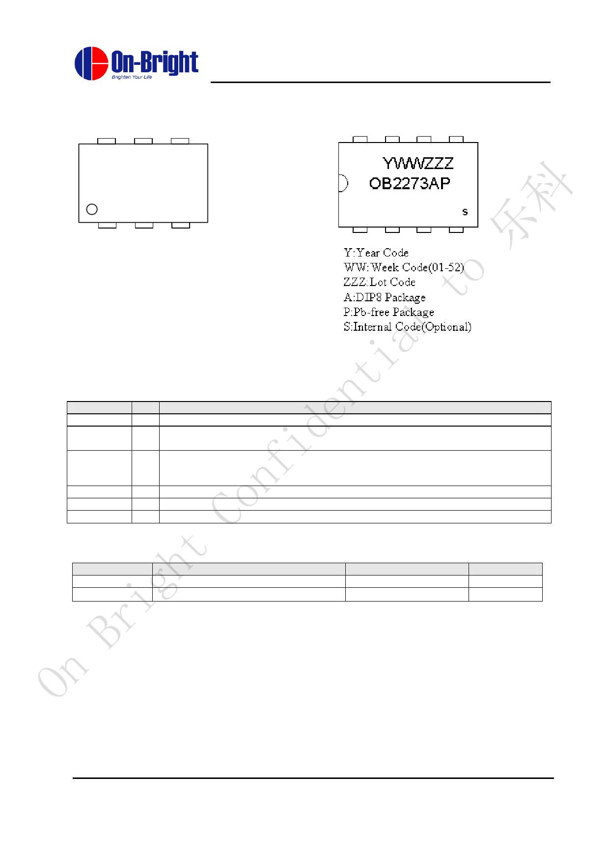 OB2273 pdf, ピン配列