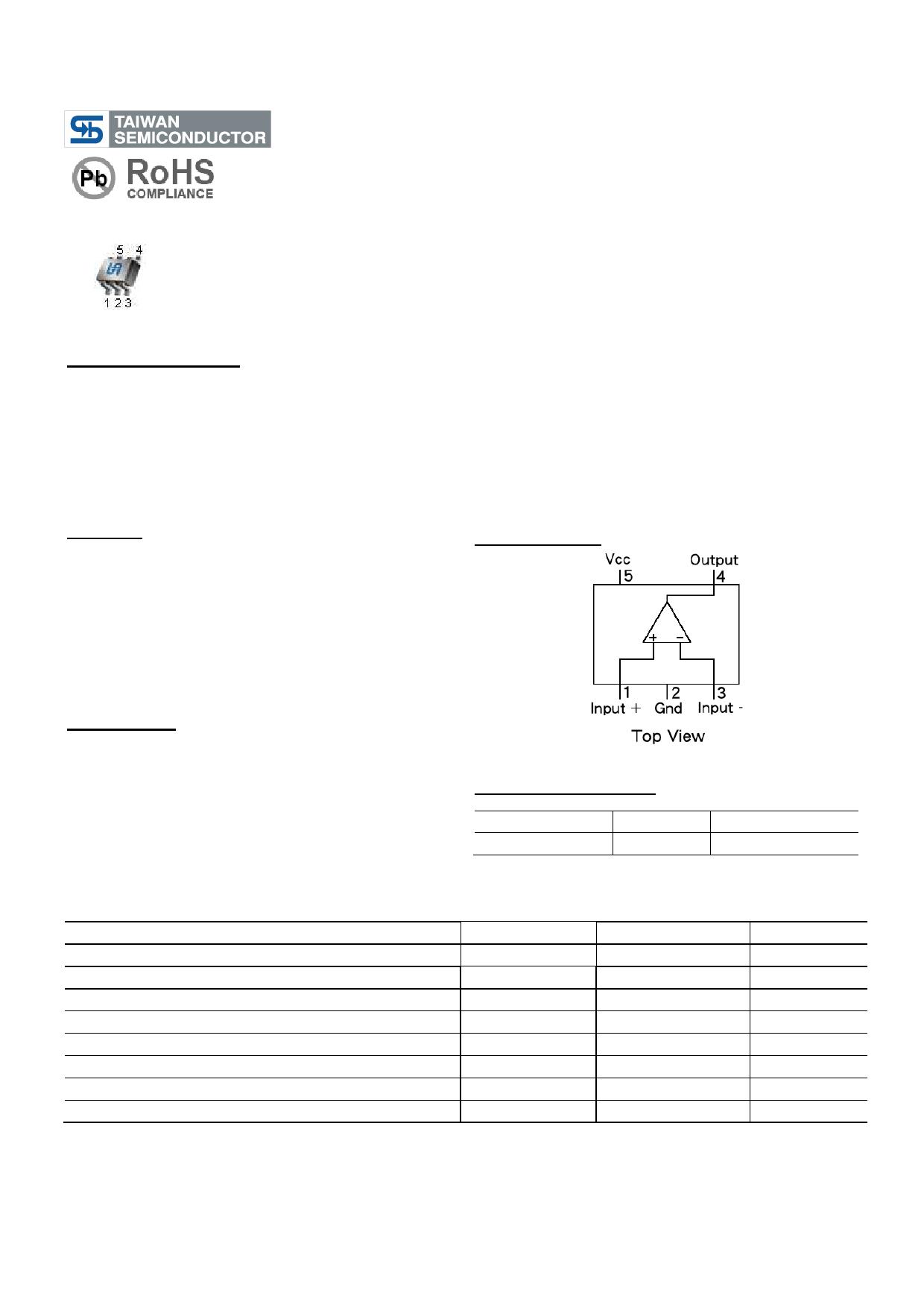 TS321 datasheet, circuit