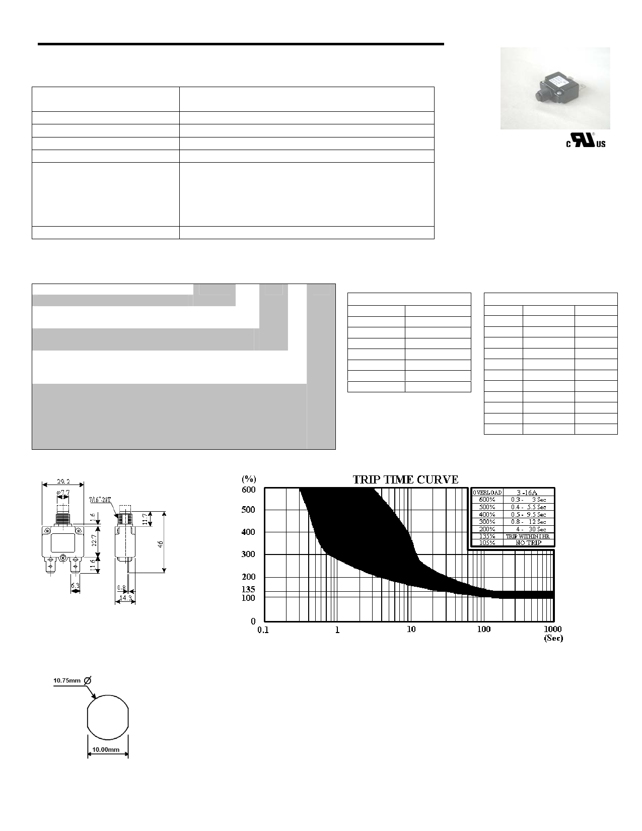 A-0709P3AWG Hoja de datos, Descripción, Manual