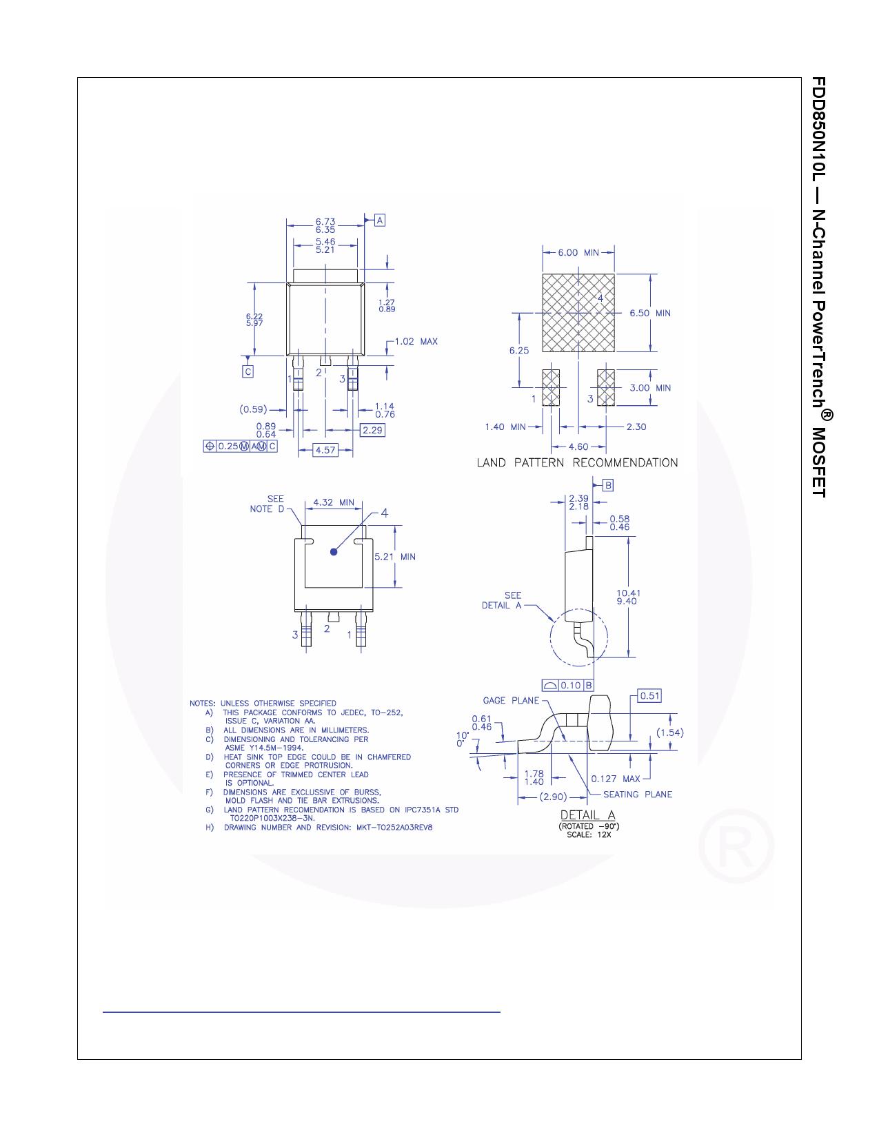 FDD850N10L 전자부품, 판매, 대치품