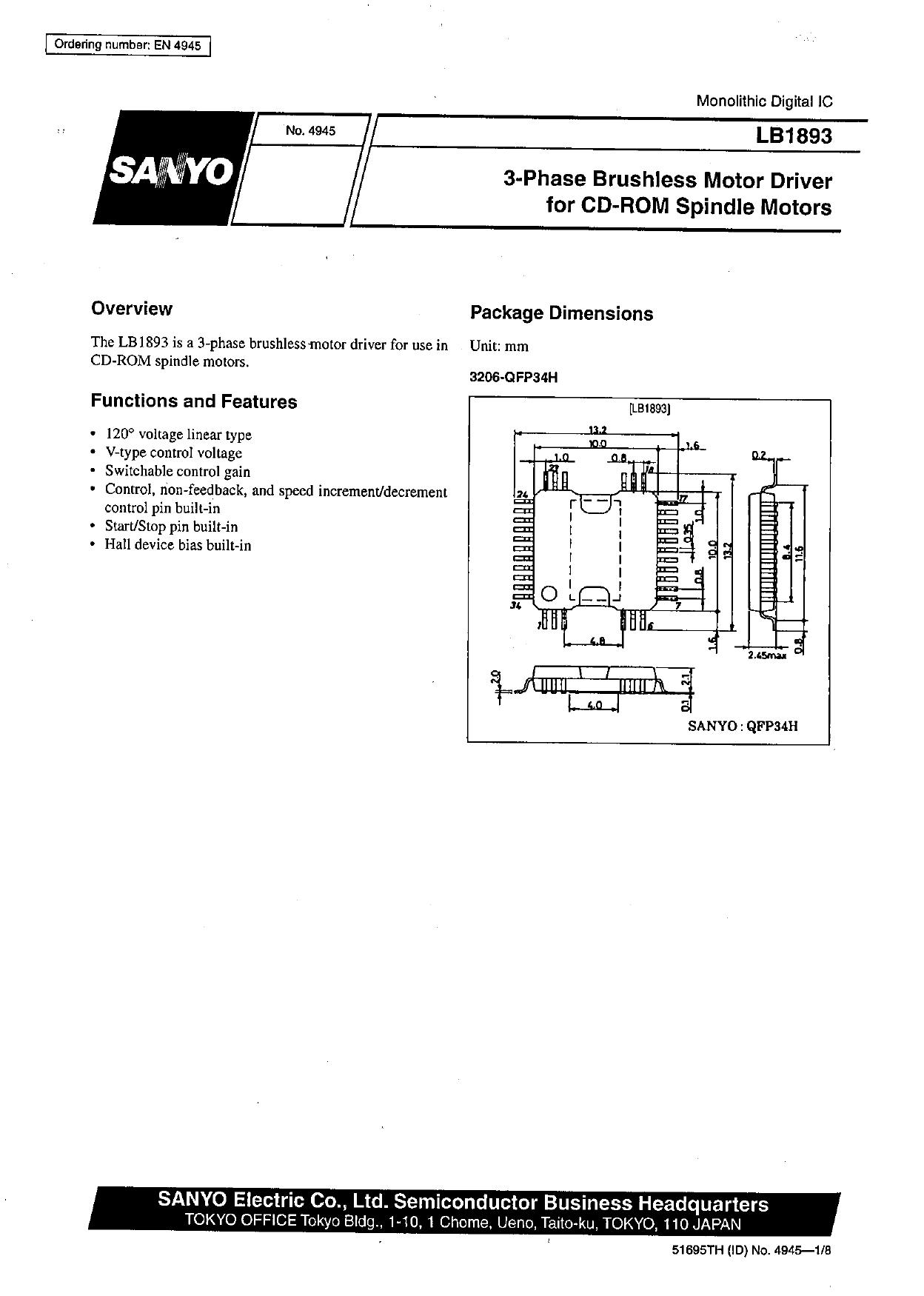 lb1893 datasheet pdf   pinout