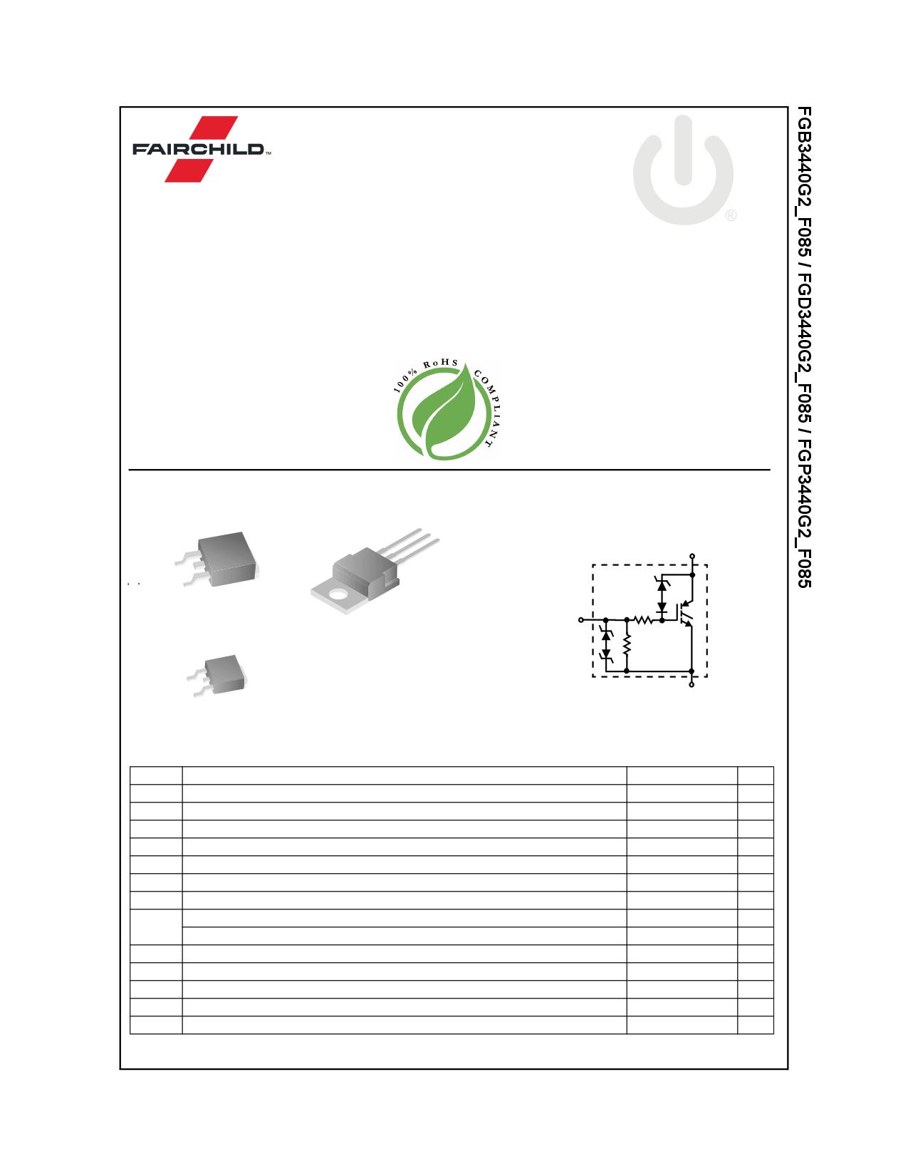 FGD3440G2_F085 데이터시트 및 FGD3440G2_F085 PDF