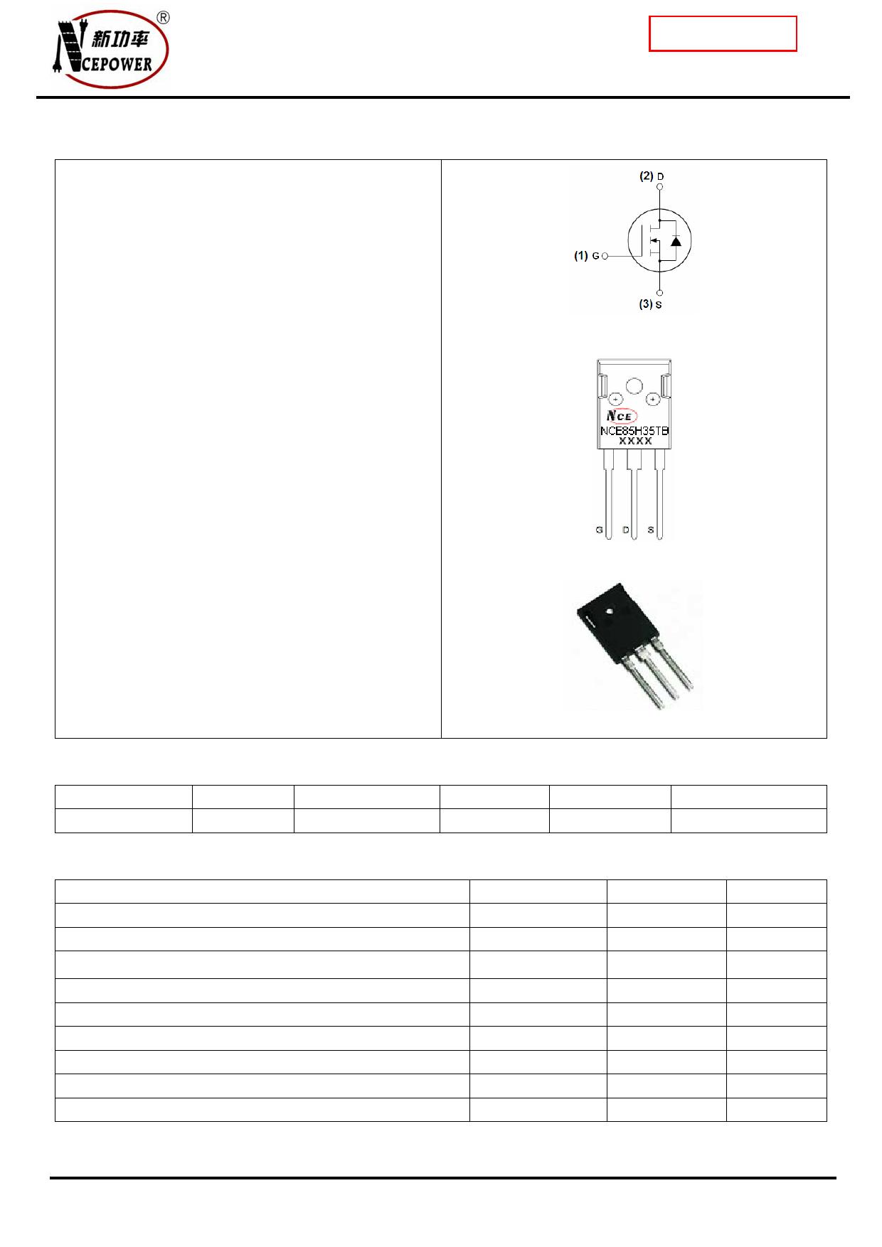 NCE85H35TC دیتاشیت PDF