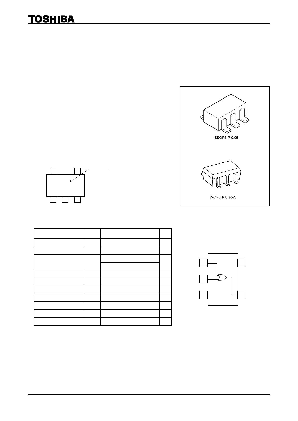 TC7SZ32F دیتاشیت PDF