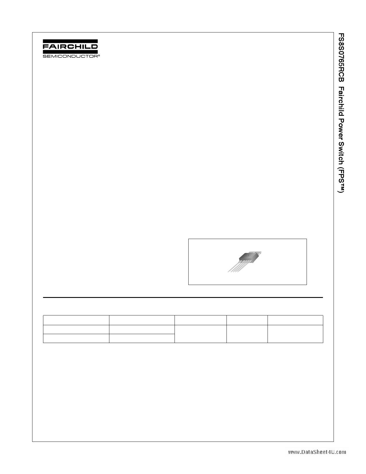 FS8S0765RCBTU datasheet