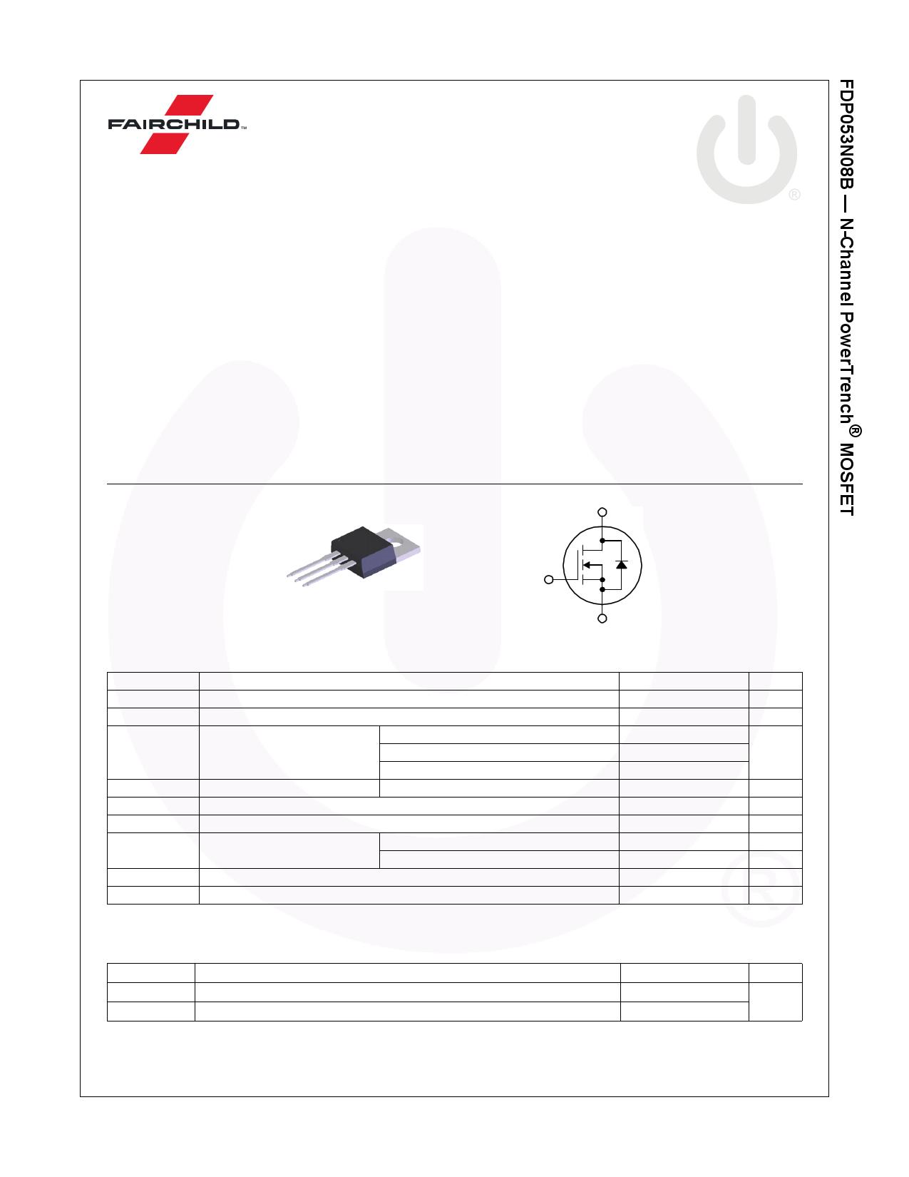 FDP053N08B datasheet