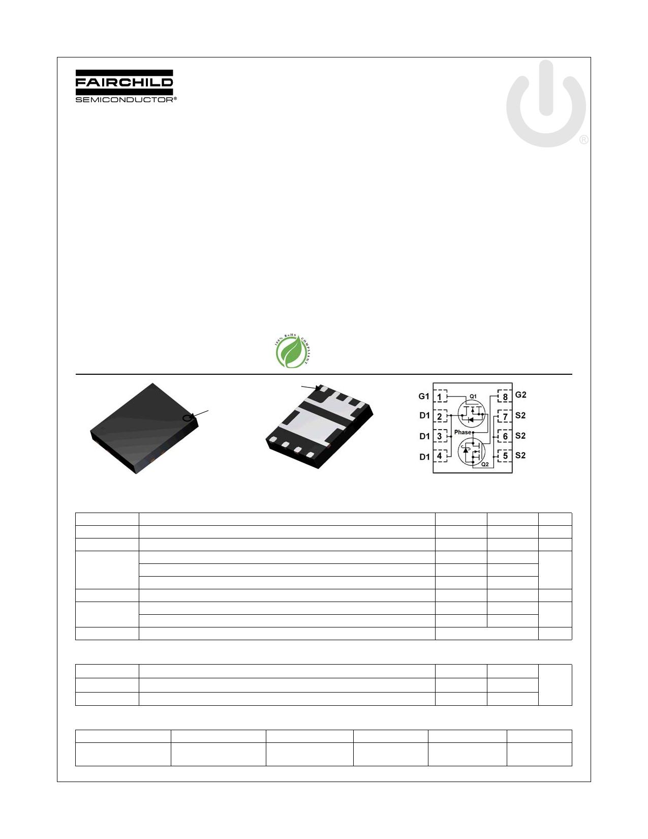 FDMS3610S 데이터시트 및 FDMS3610S PDF