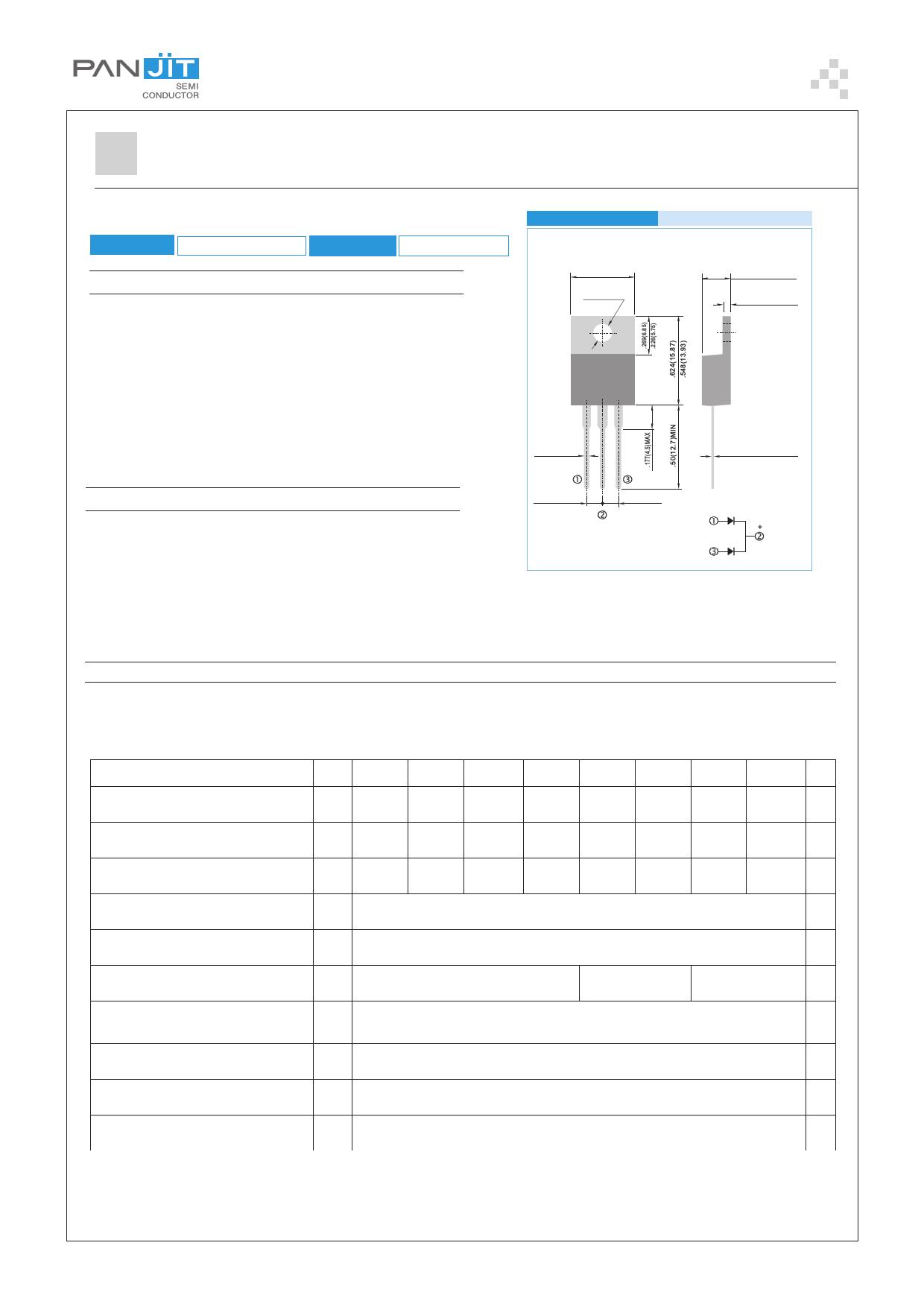 MBR1020CT datasheet