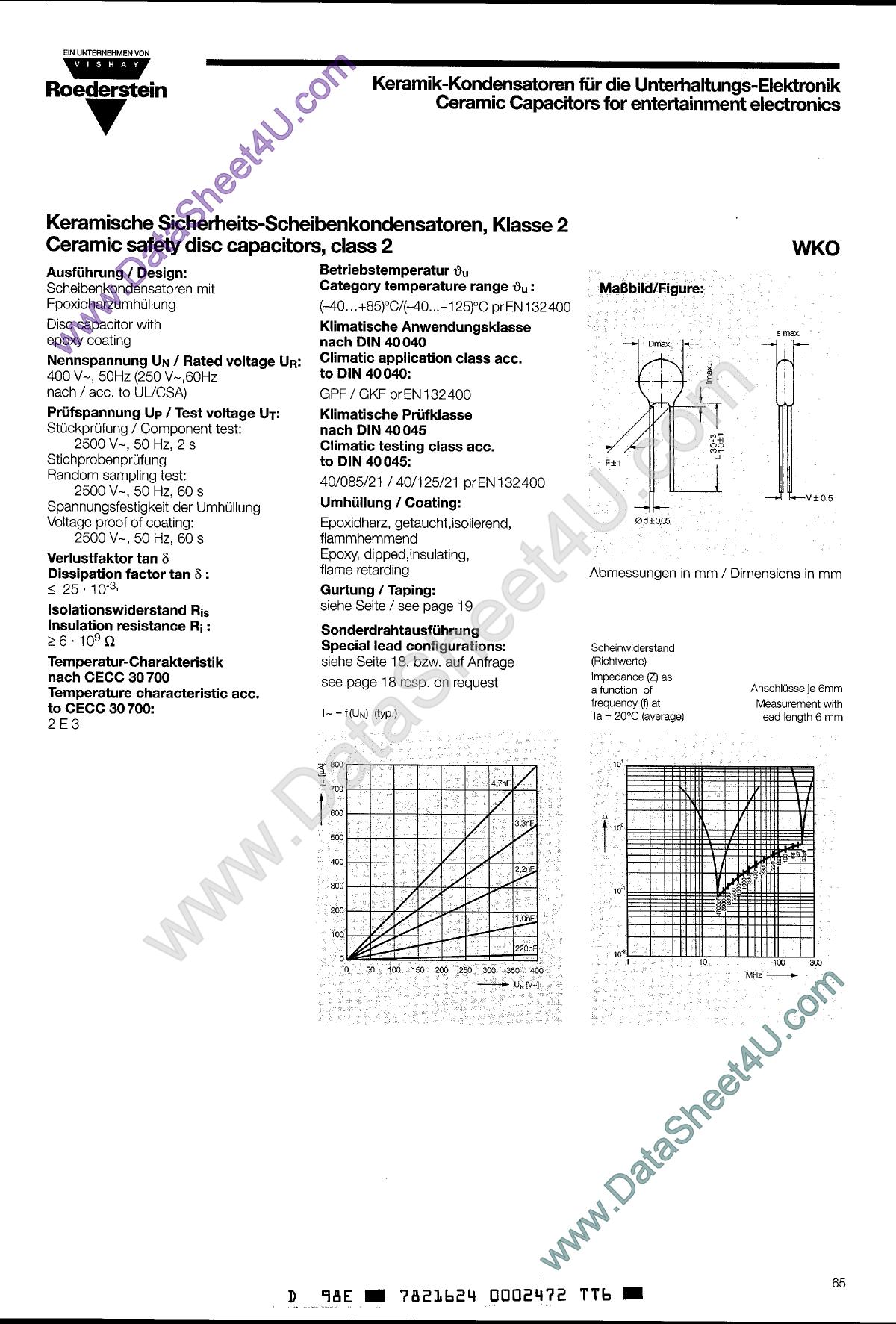 WKO152MCPCxx دیتاشیت PDF