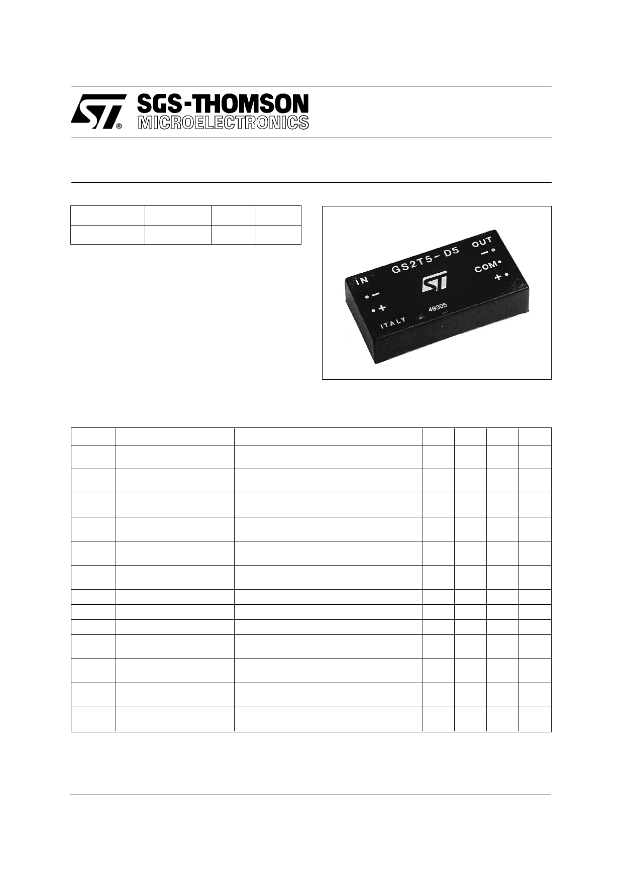 GS2T5-D5 datasheet