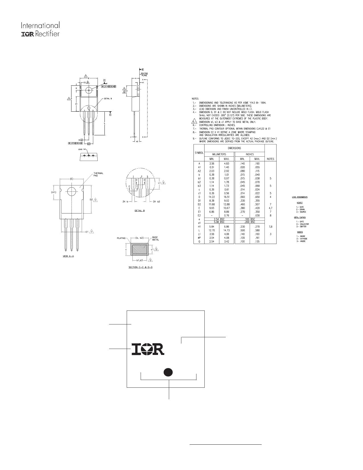 AUIRFB4410 diode, scr