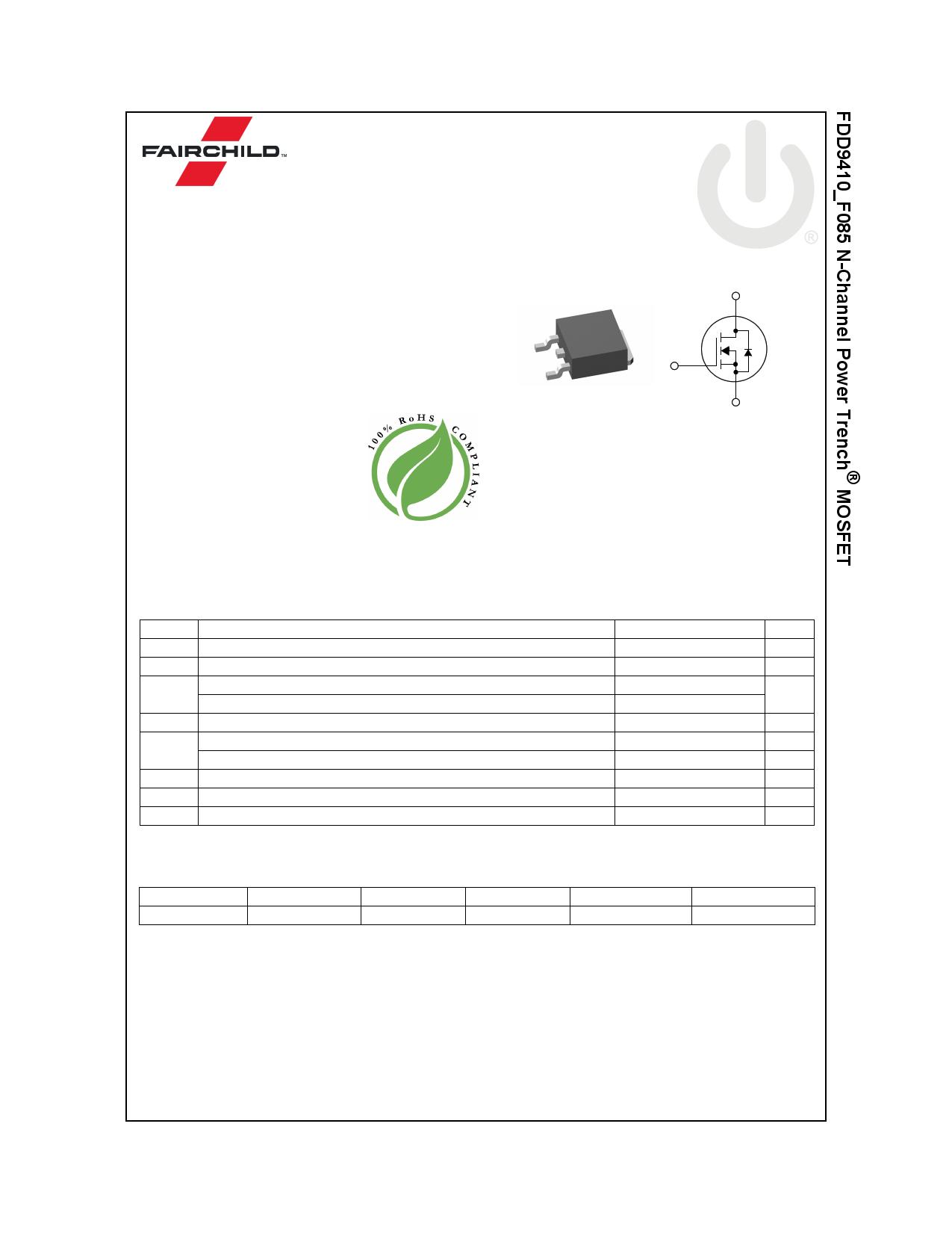FDD9410_F085 데이터시트 및 FDD9410_F085 PDF