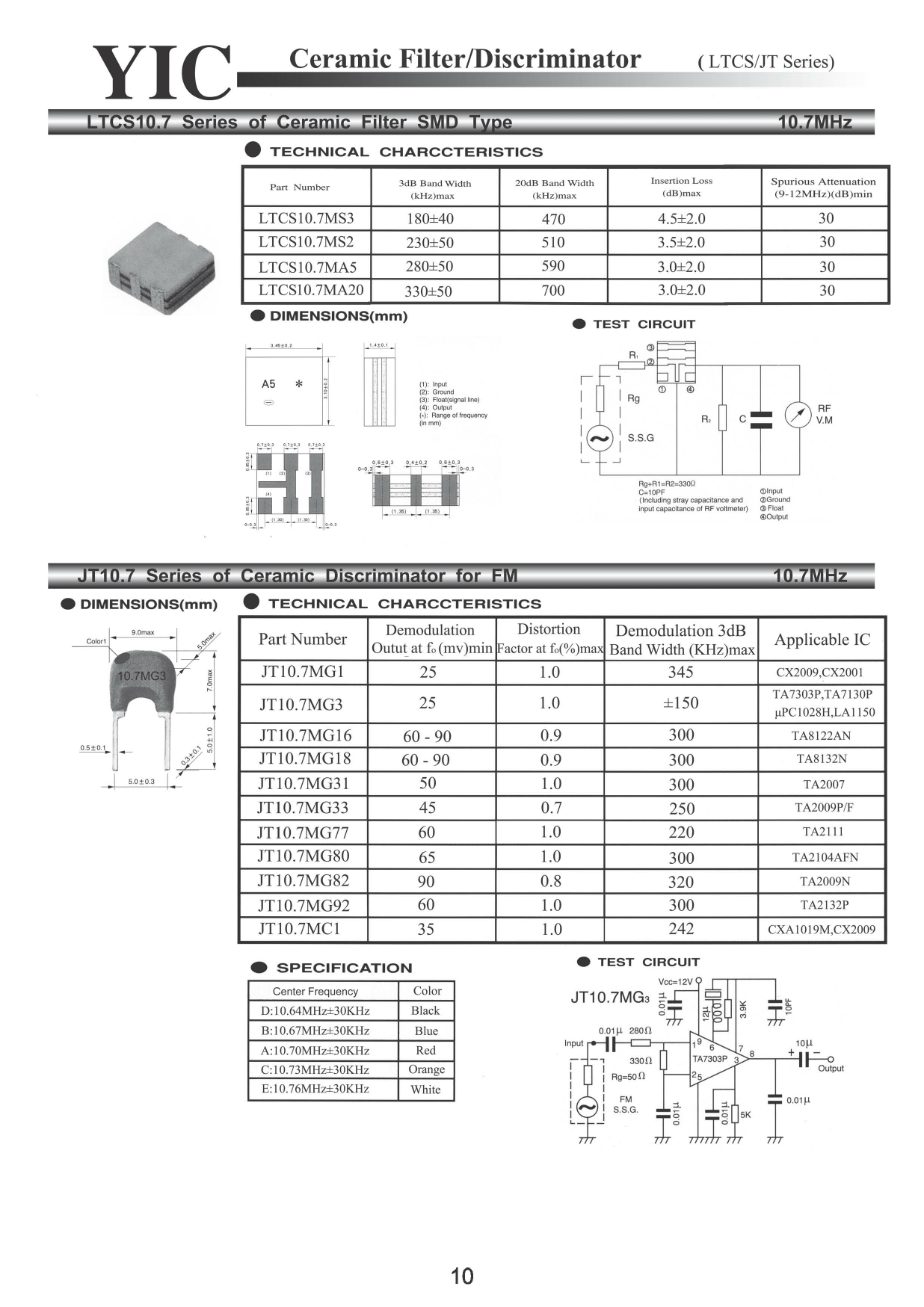 JT10.7 Datasheet, JT10.7 PDF,ピン配置, 機能