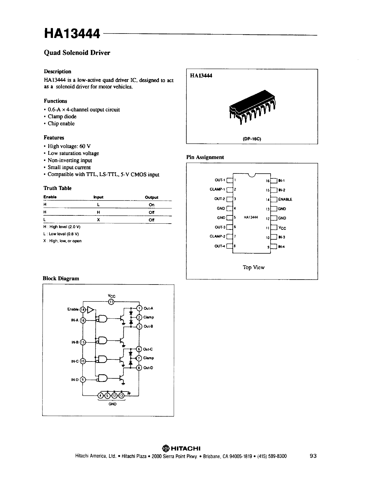 HA13444 دیتاشیت PDF