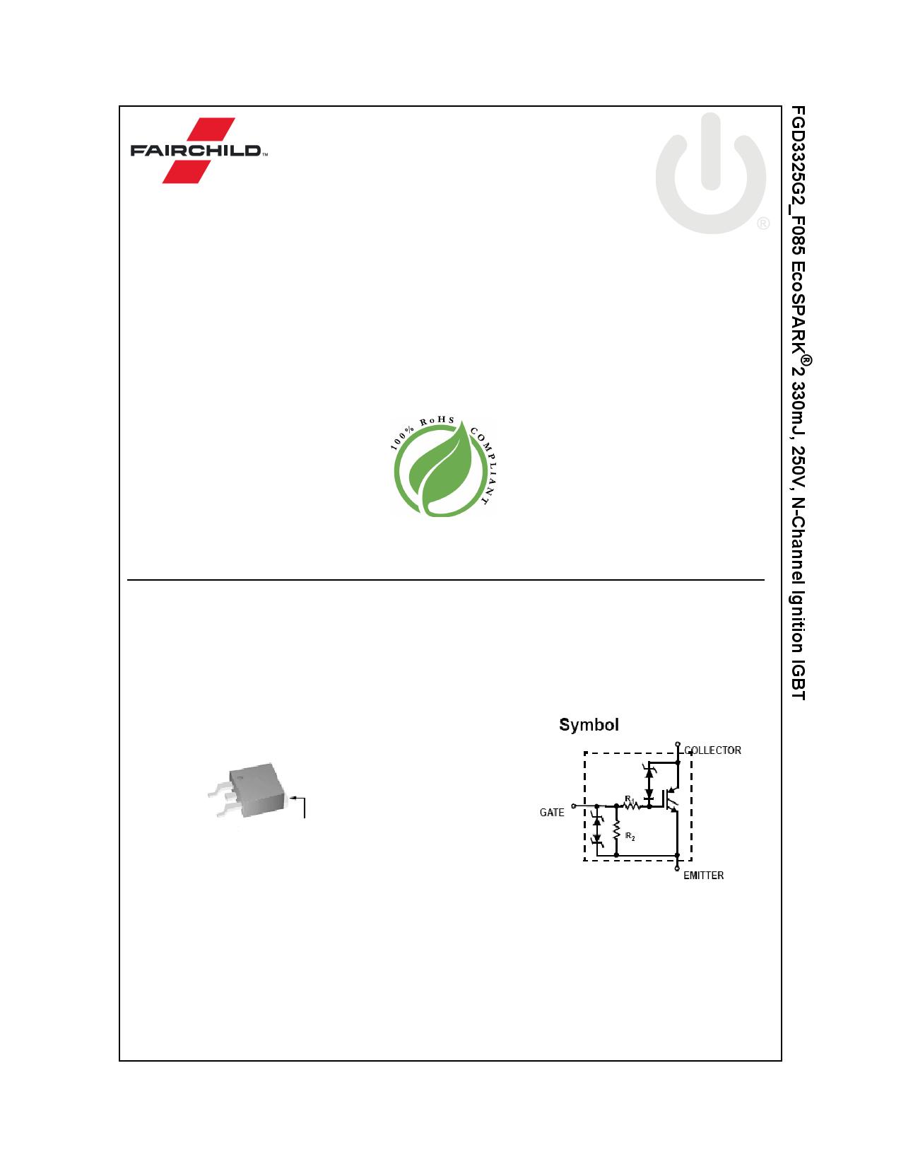 FGD3325G2_F085 데이터시트 및 FGD3325G2_F085 PDF