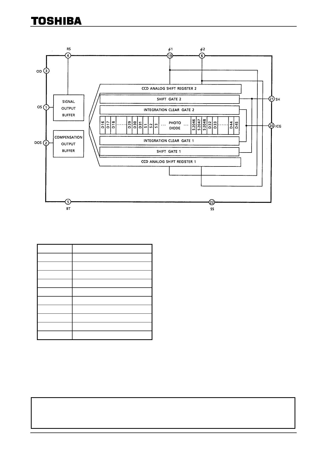 tcd1205dg datasheet pdf   pinout