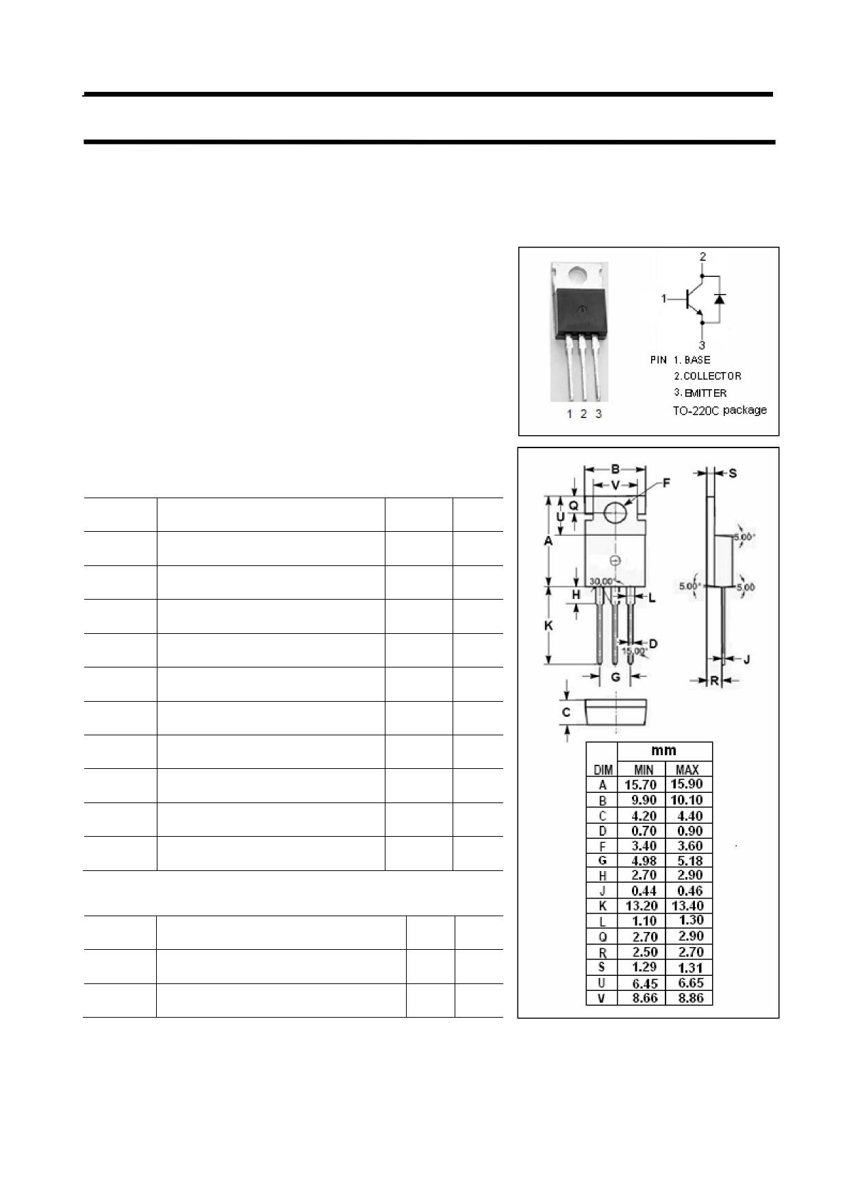 BUL118D Datasheet, BUL118D PDF,ピン配置, 機能