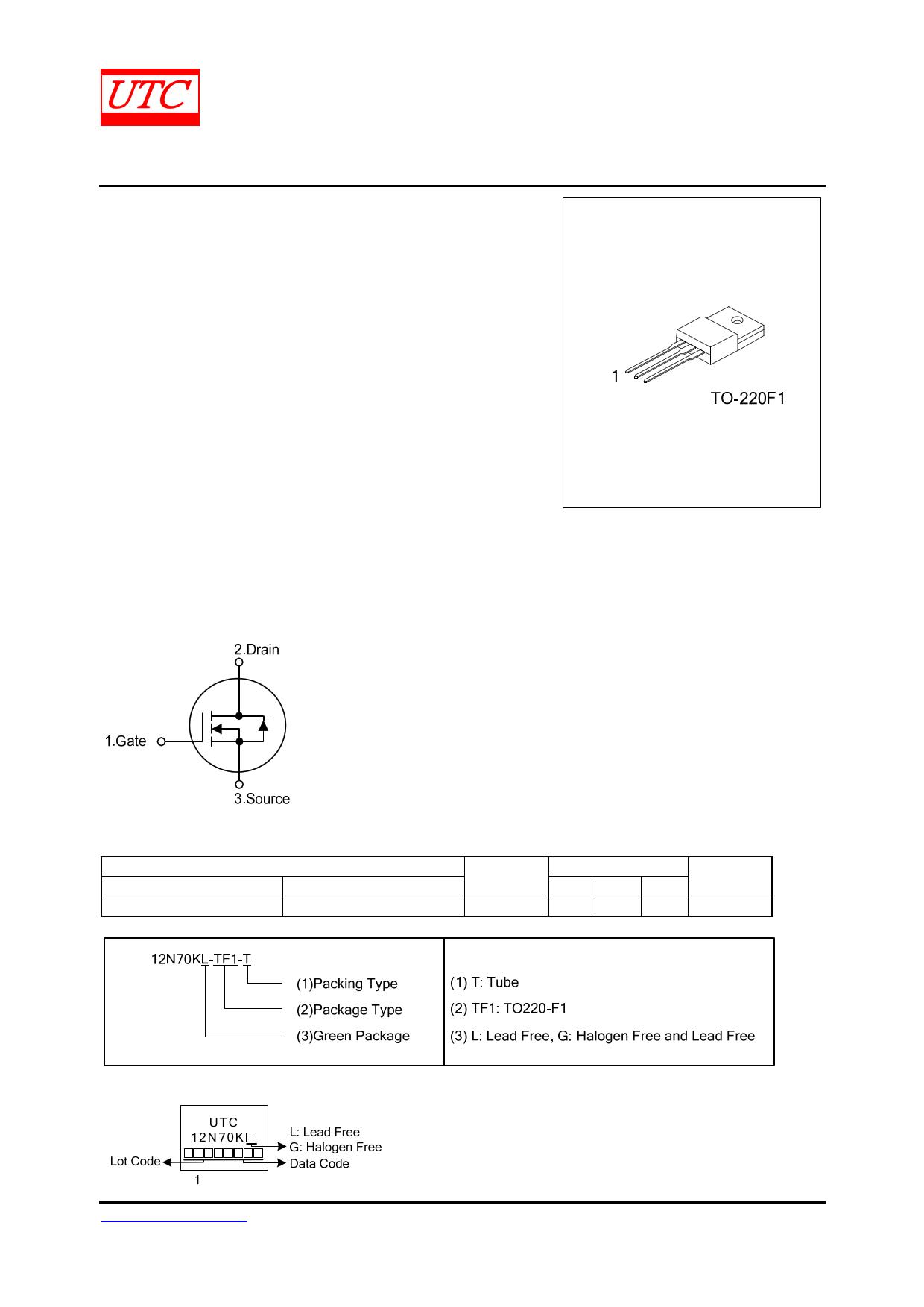 12N70K-MT datasheet
