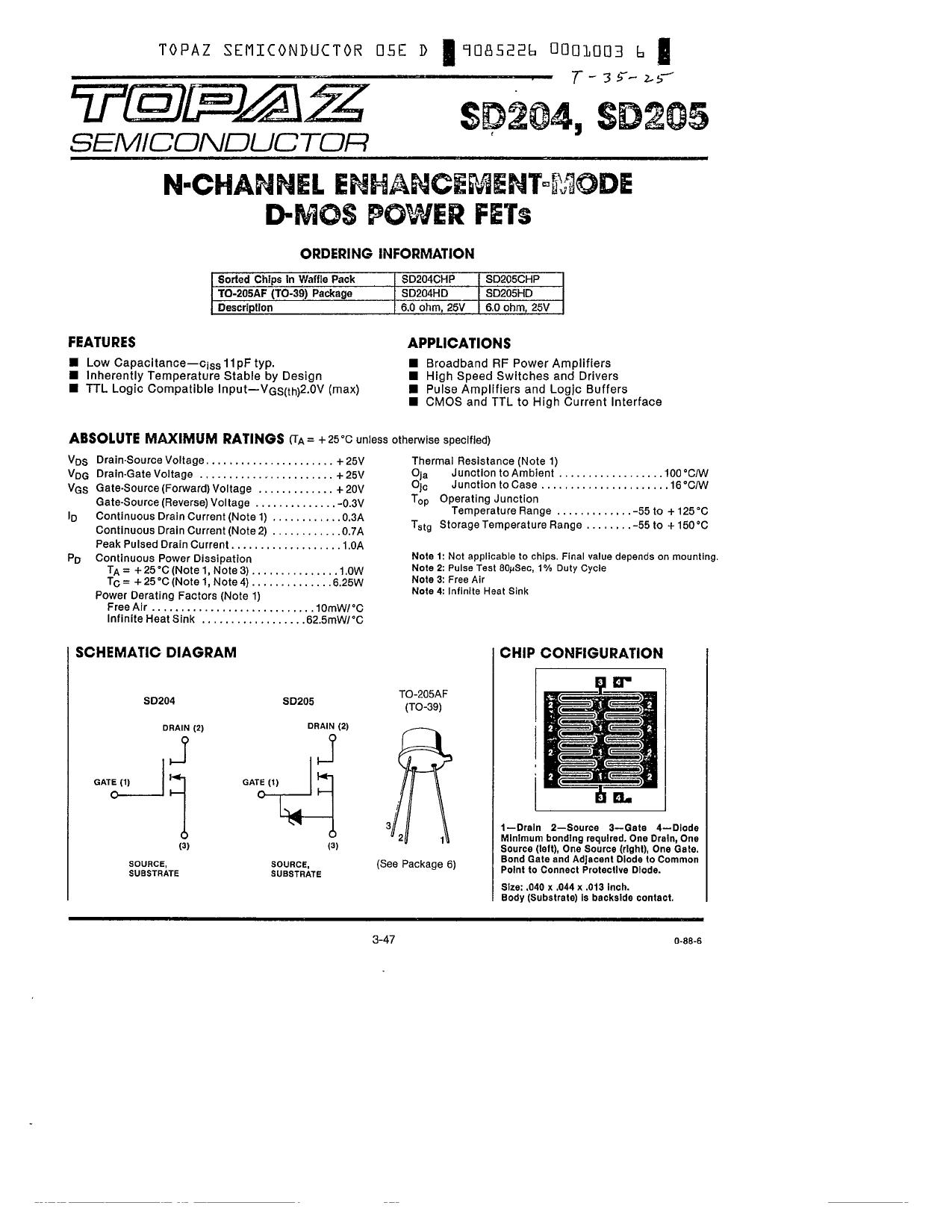 SD205 دیتاشیت PDF