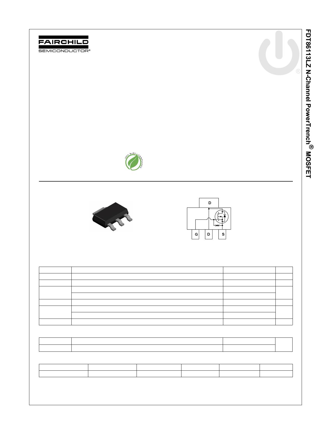 FDT86113LZ 데이터시트 및 FDT86113LZ PDF