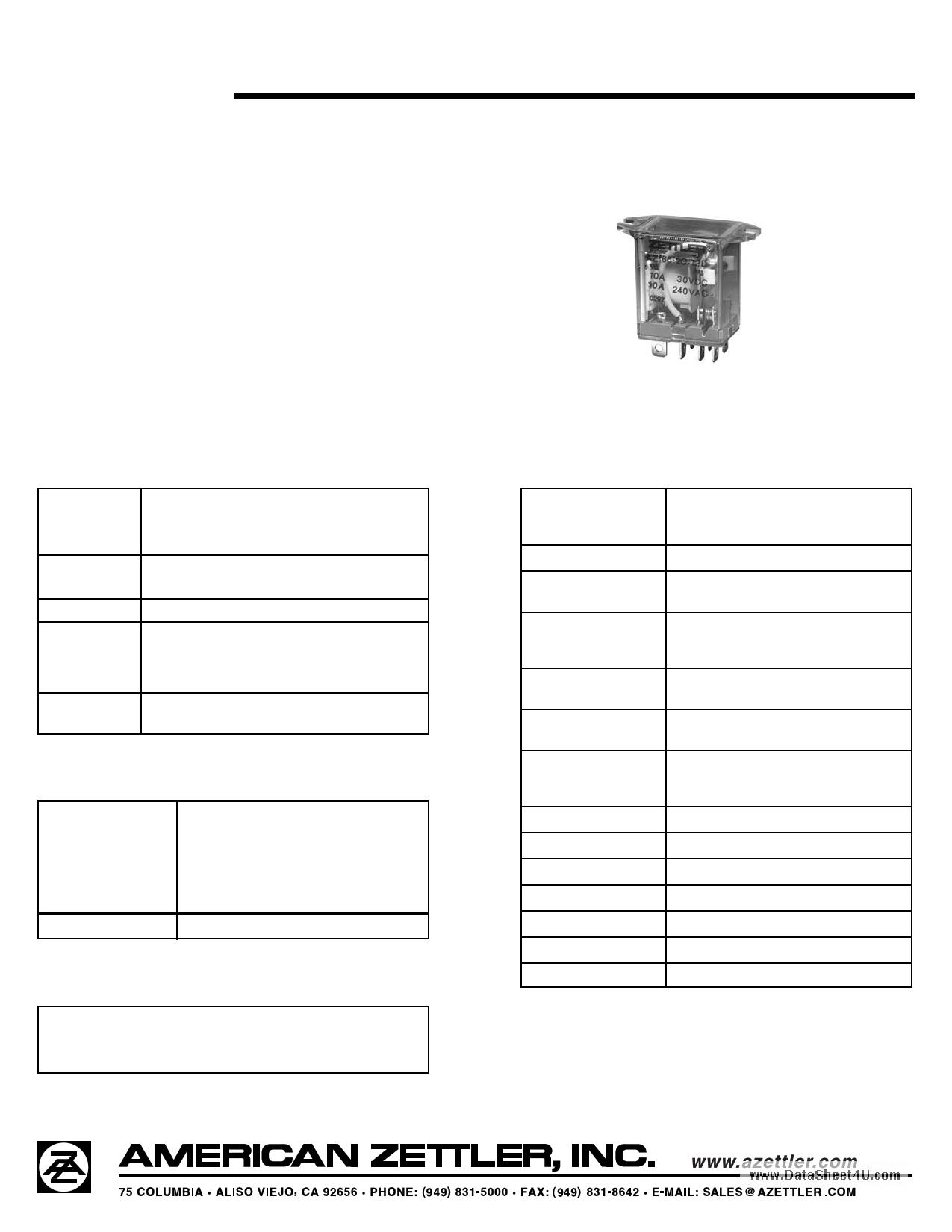 AZ166 دیتاشیت PDF