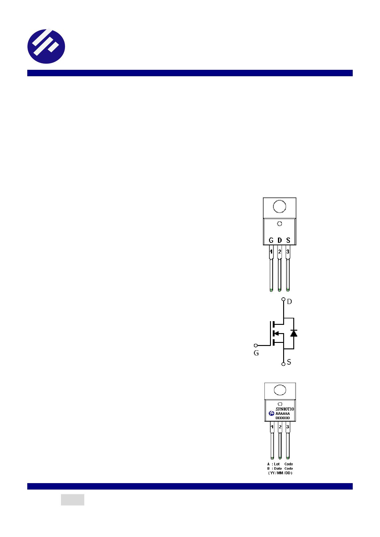 SPN80T10 데이터시트 및 SPN80T10 PDF