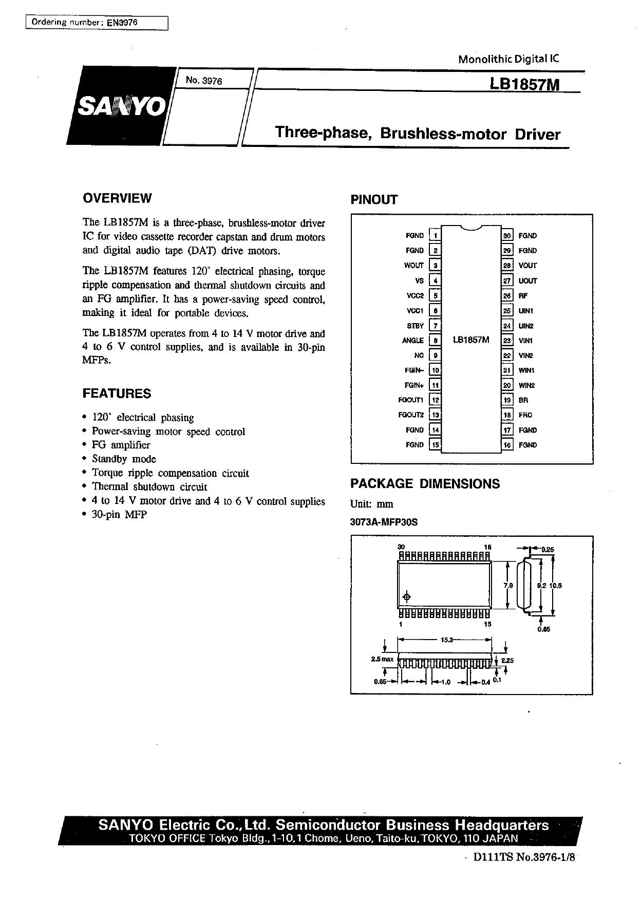 LB1857M datasheet