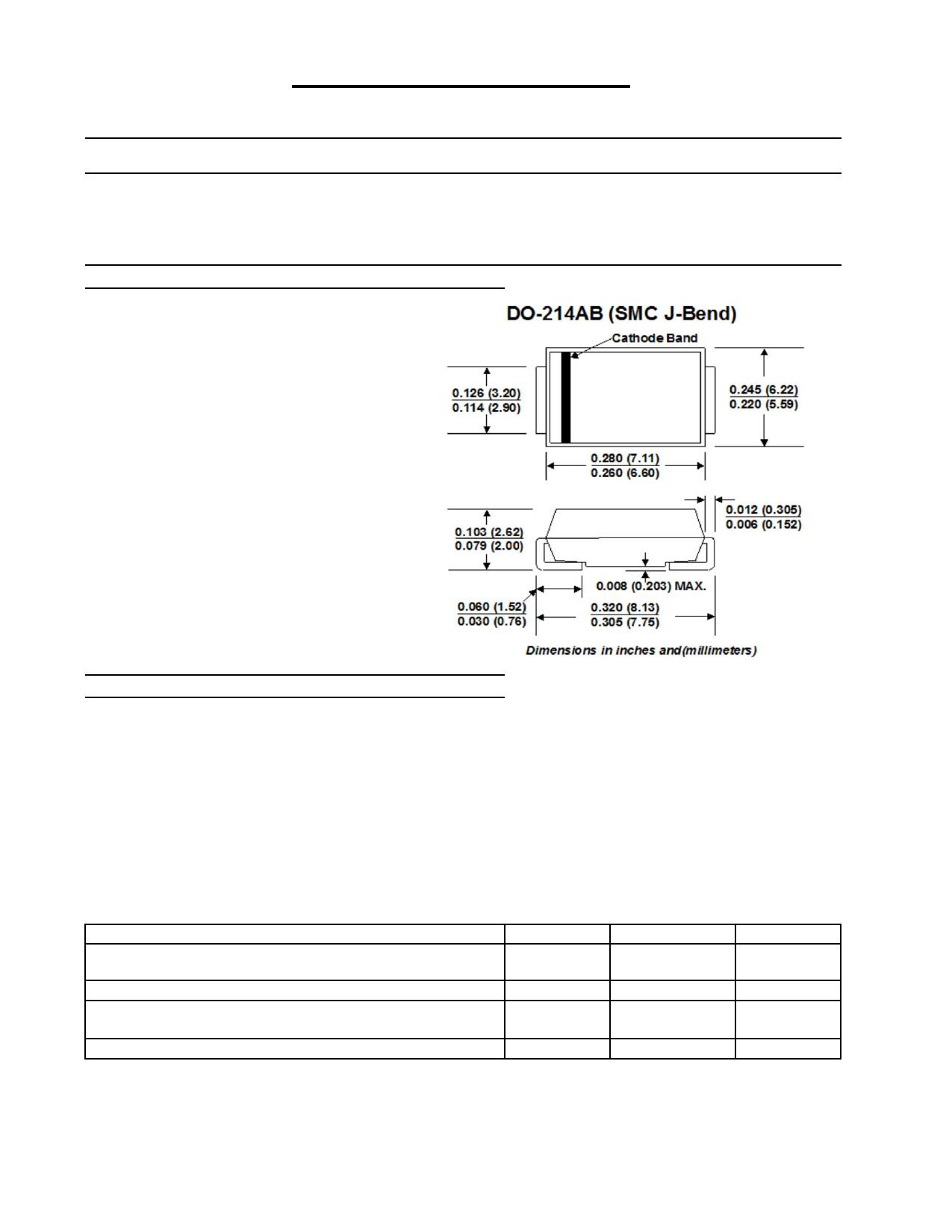 5.0SMLJ150A datasheet