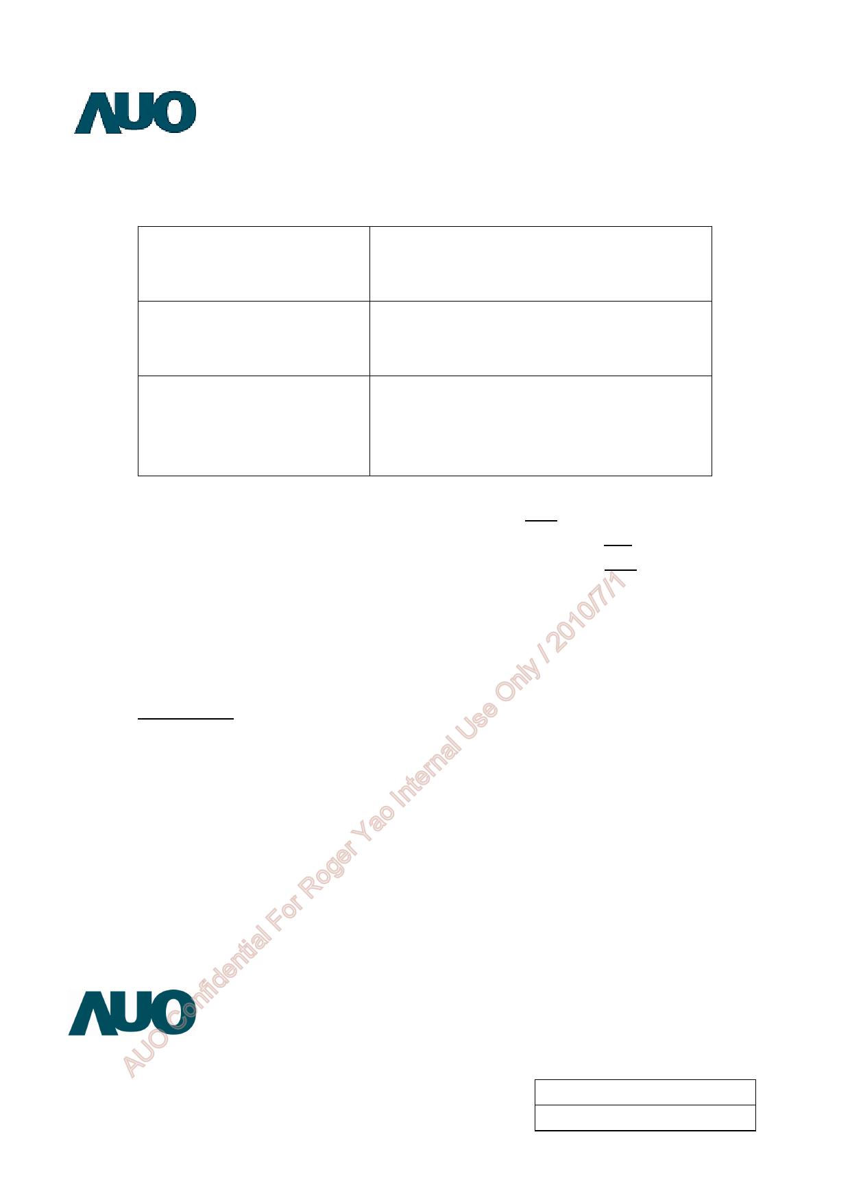 A070VW08-V0 datasheet, circuit