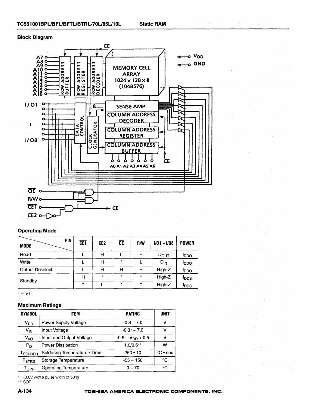 tc551001bftl-85l datasheet pdf   pinout
