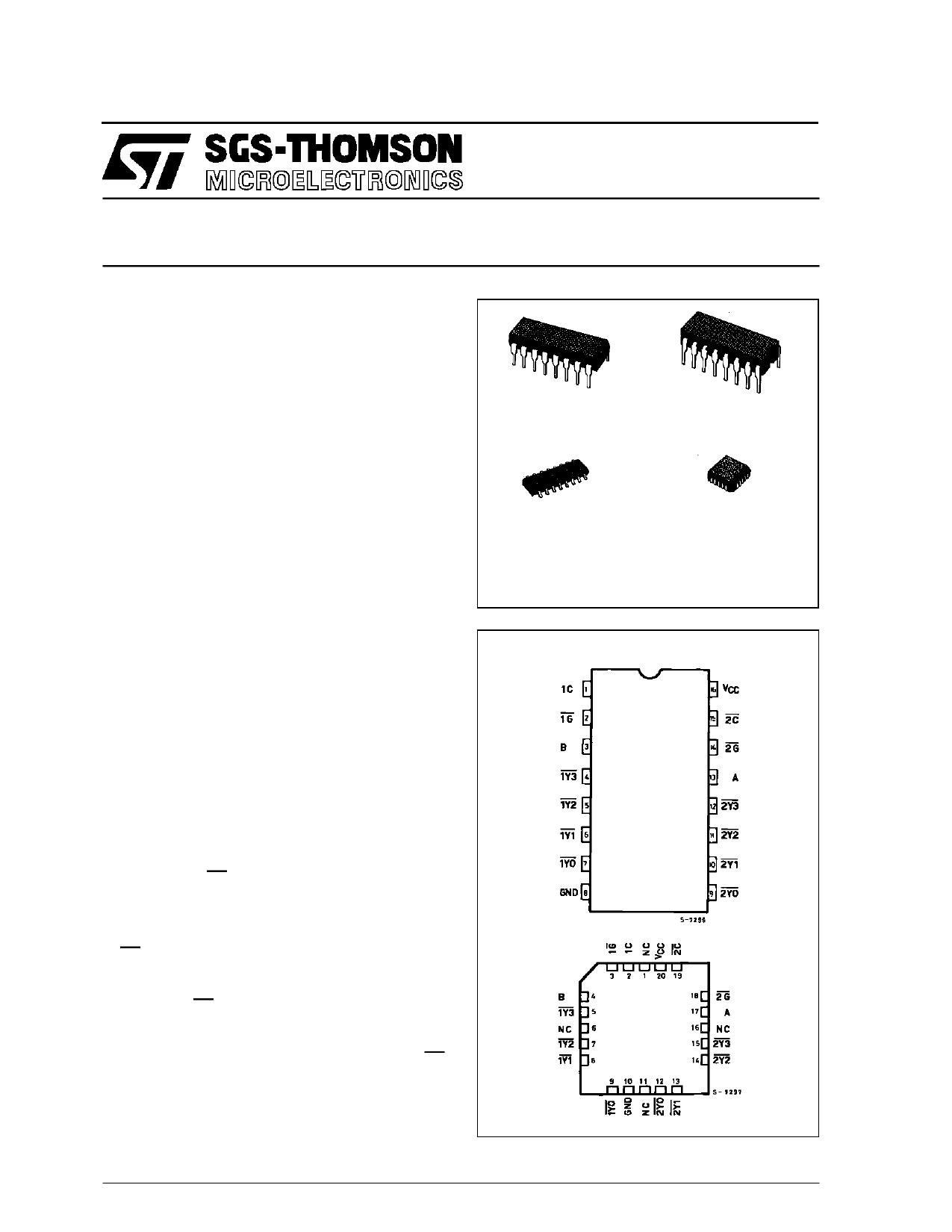 M54HC155 دیتاشیت PDF
