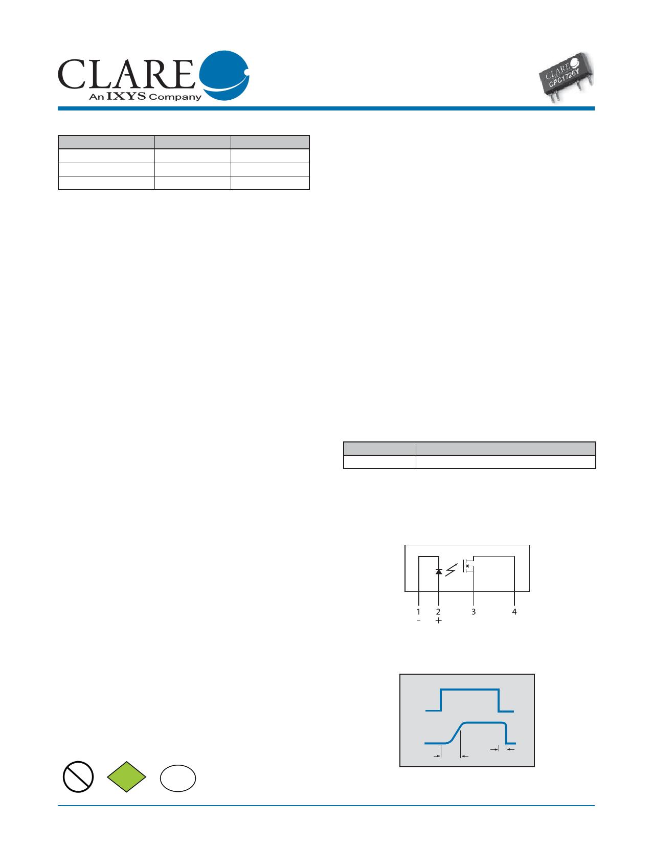 cpc1726y datasheet pdf   pinout