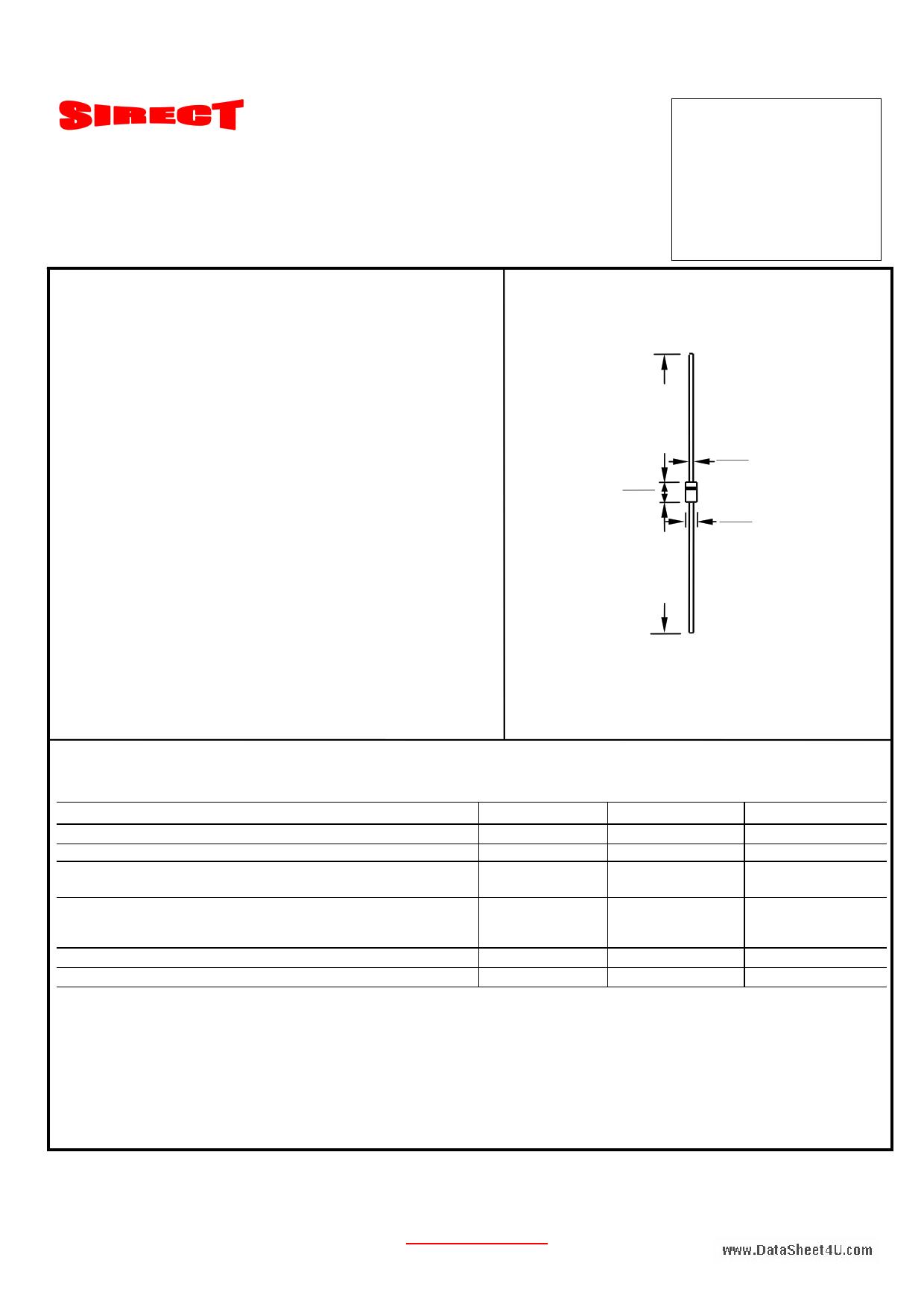 P4KE300C-LF datasheet