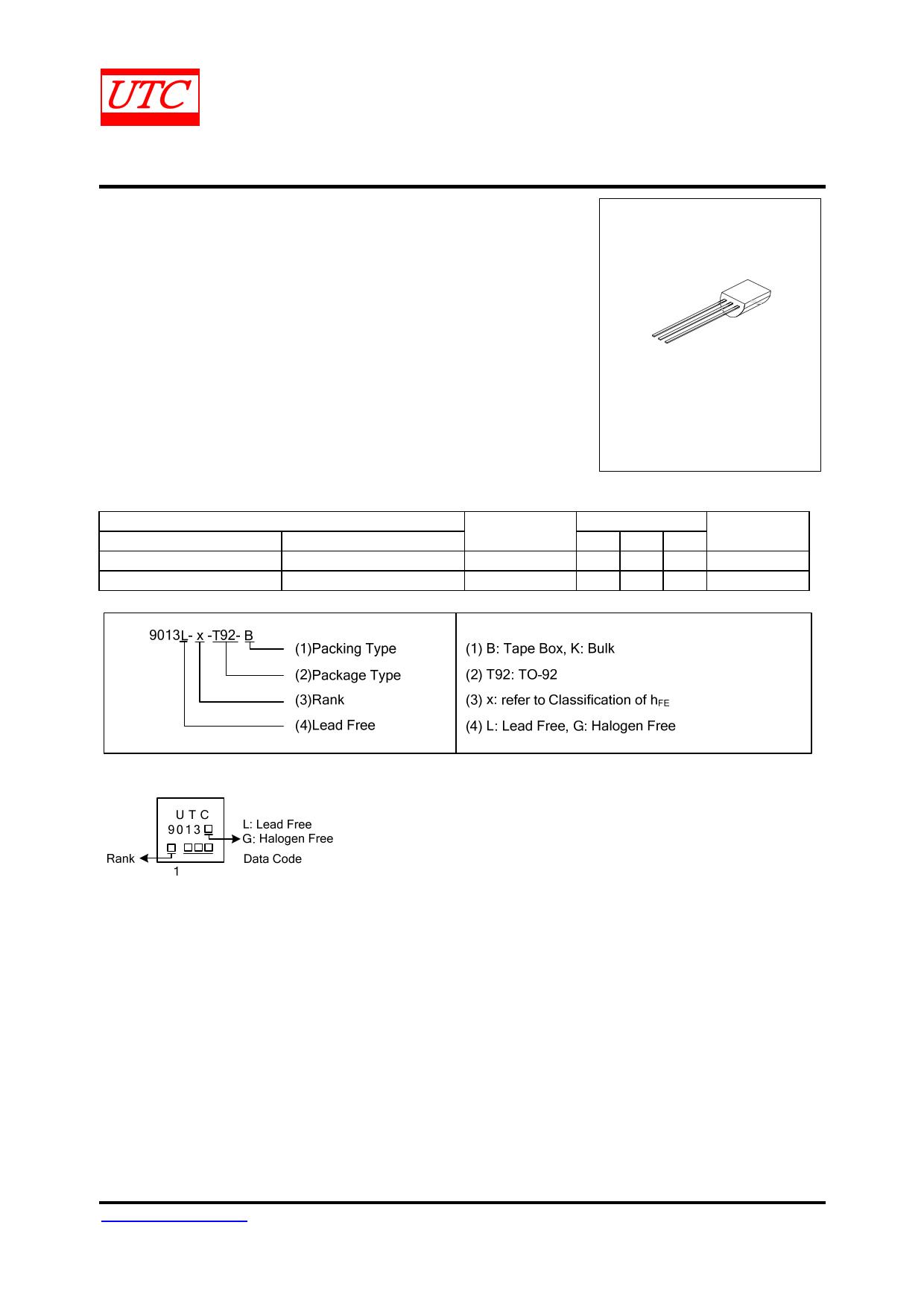 9013 دیتاشیت PDF