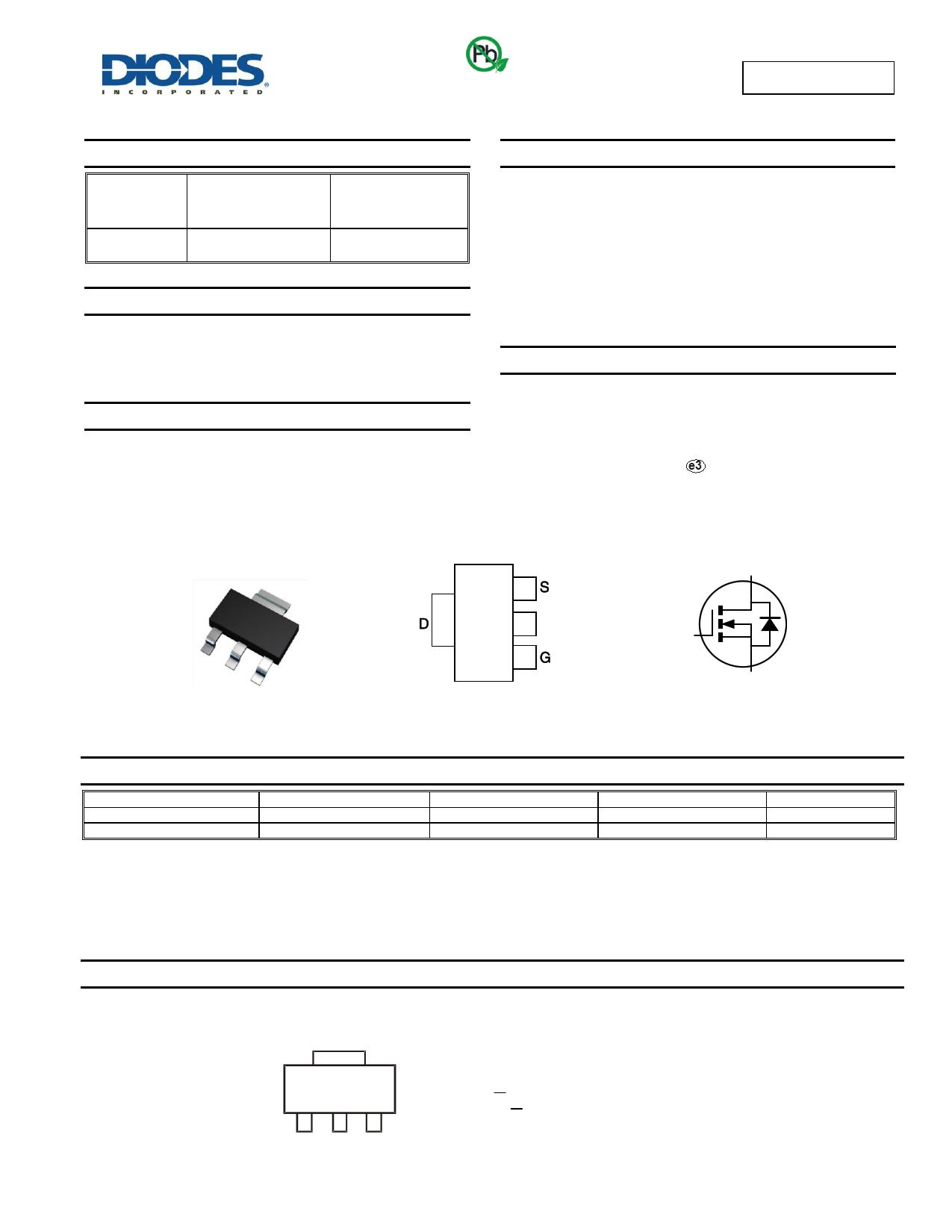 ZXMN0545G4TA دیتاشیت PDF
