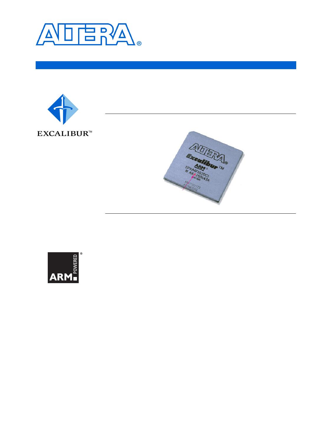 EPXA4 دیتاشیت PDF