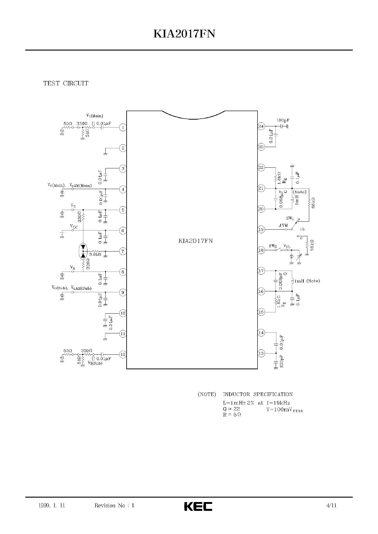 KIA2017FN pdf, 반도체, 판매, 대치품