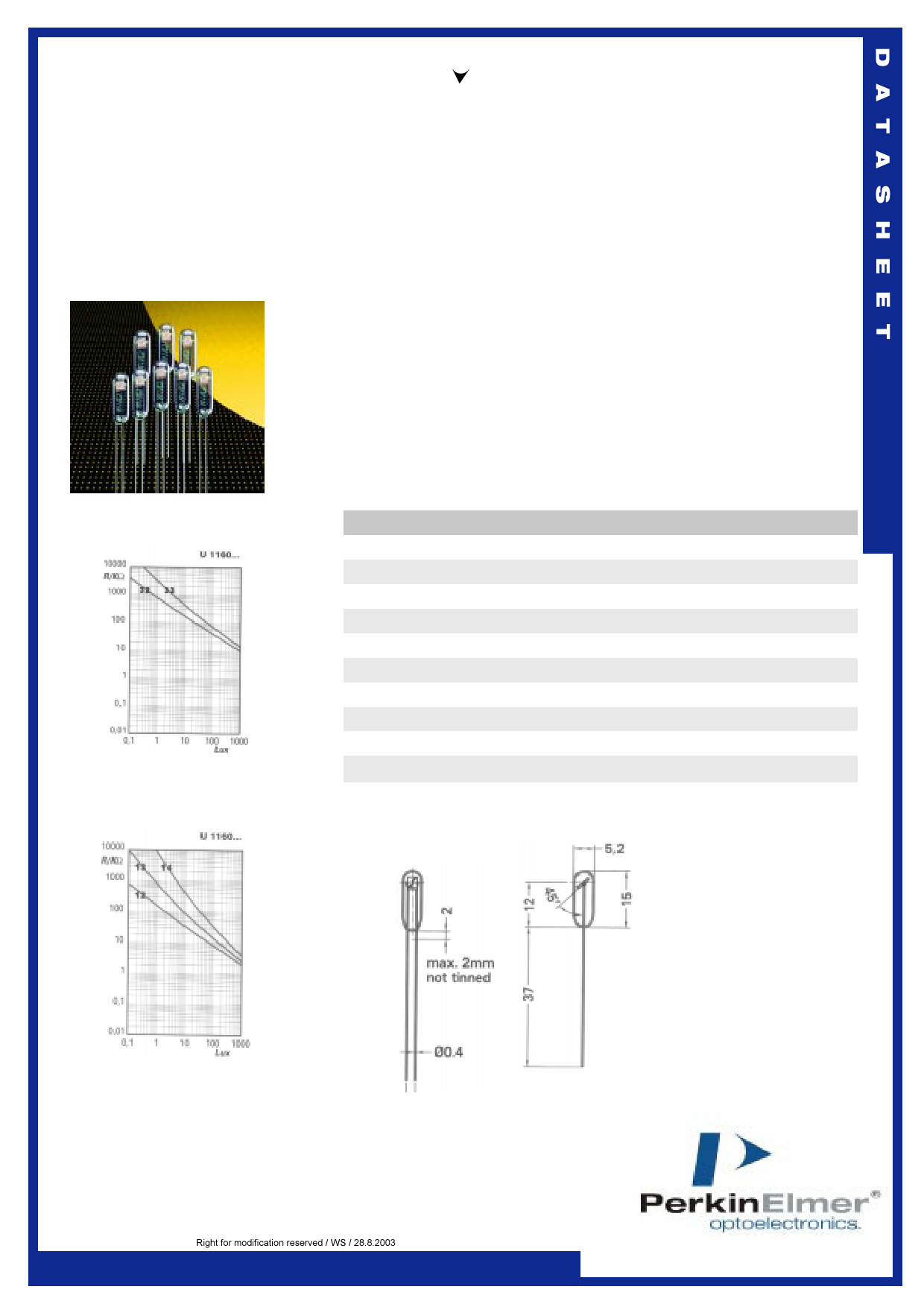 U1160 دیتاشیت PDF