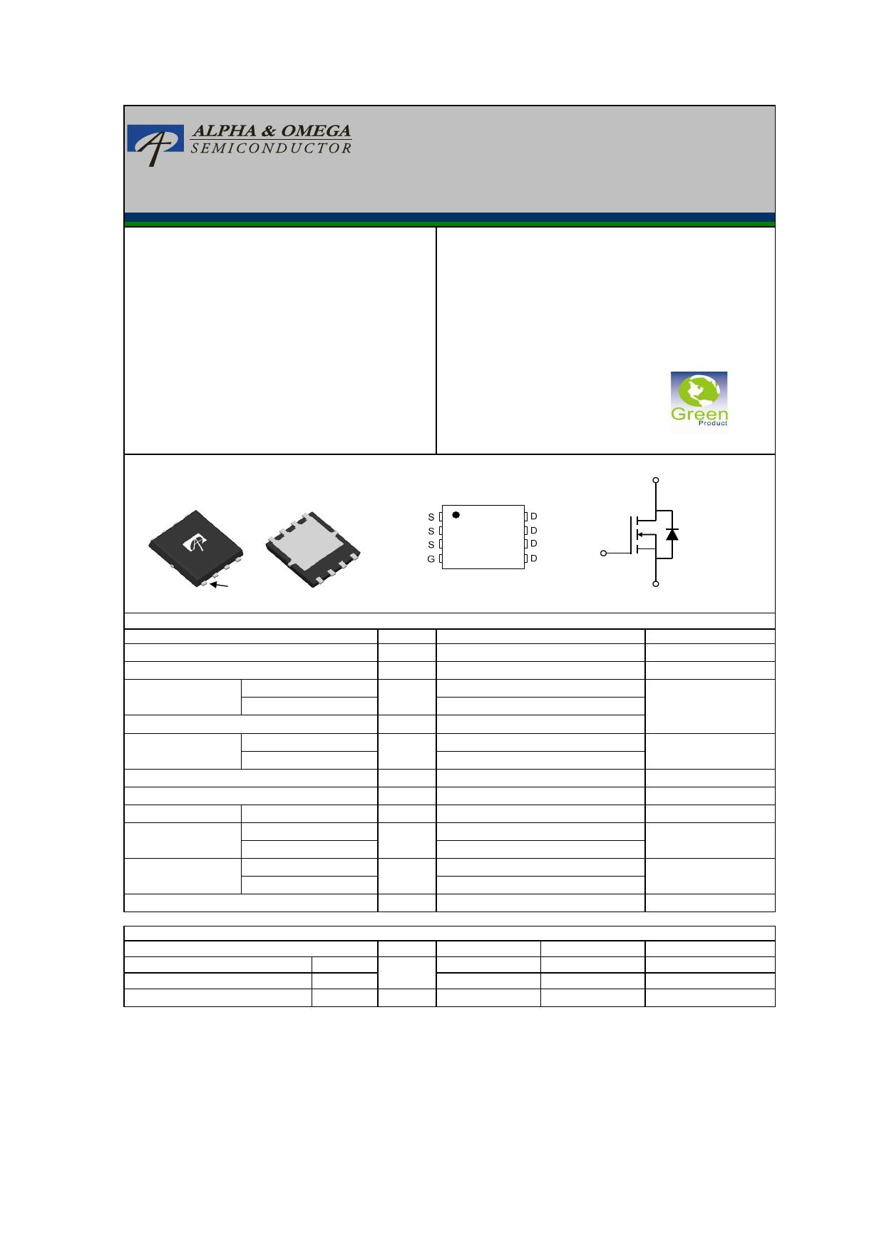 AON6532 Datasheet, AON6532 PDF,ピン配置, 機能