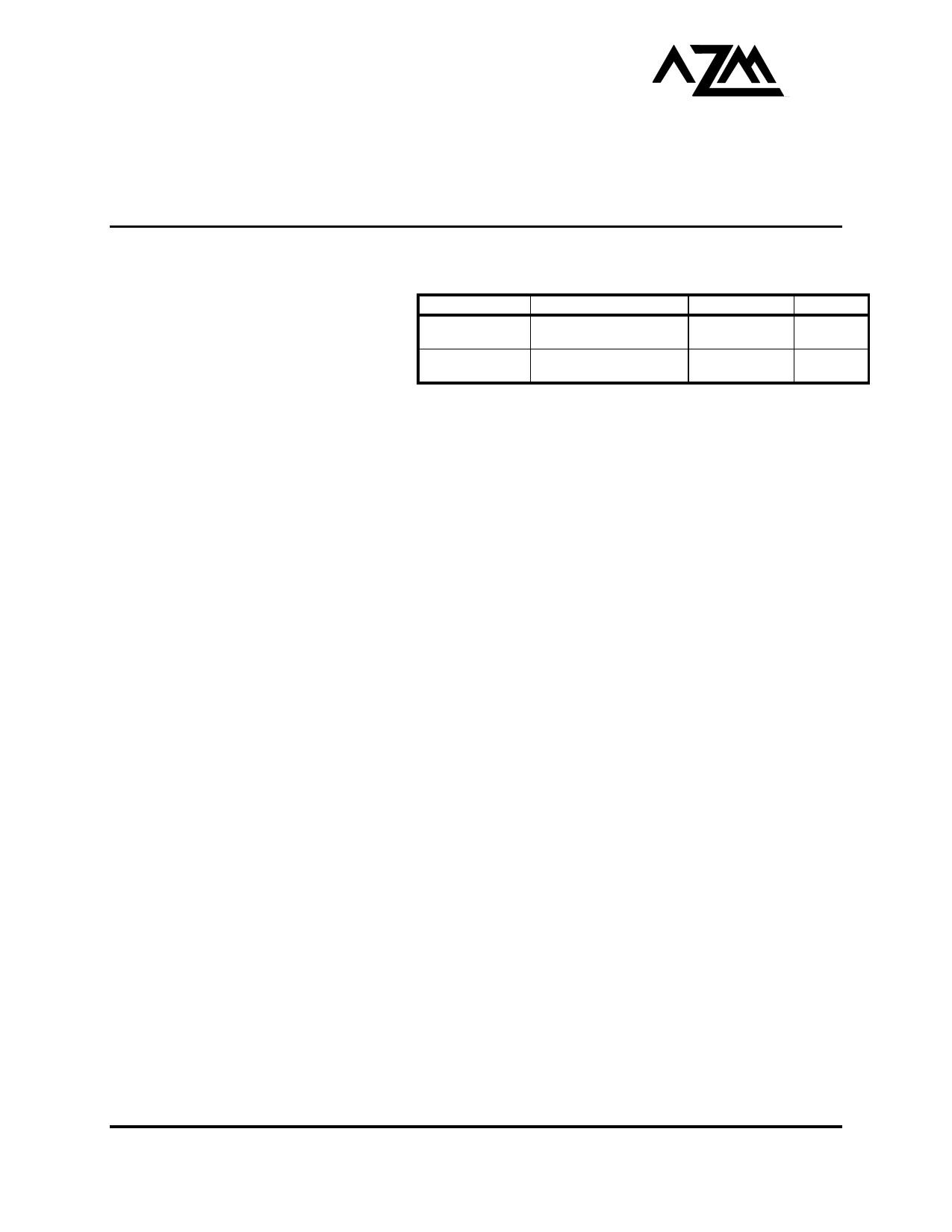 AZ100E116 دیتاشیت PDF