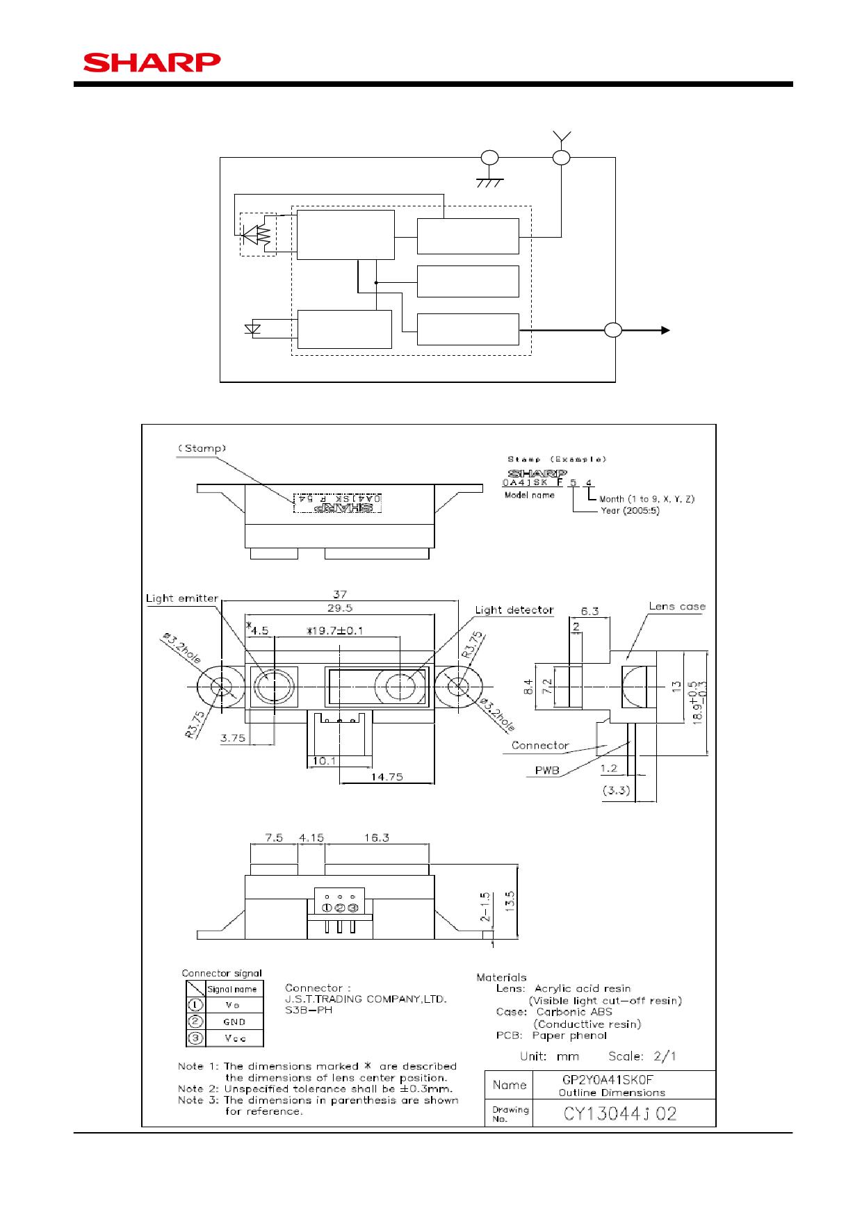 GP2Y0A41SK0F pdf schematic