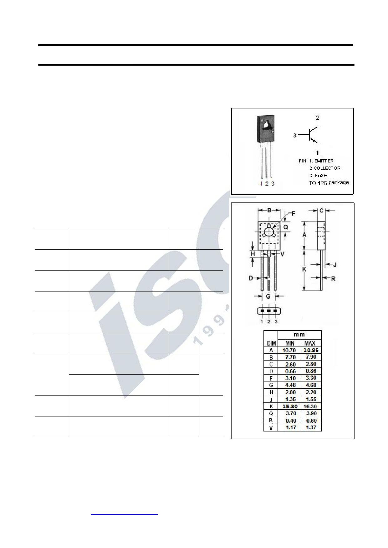 KTA1700 Datasheet, KTA1700 PDF,ピン配置, 機能